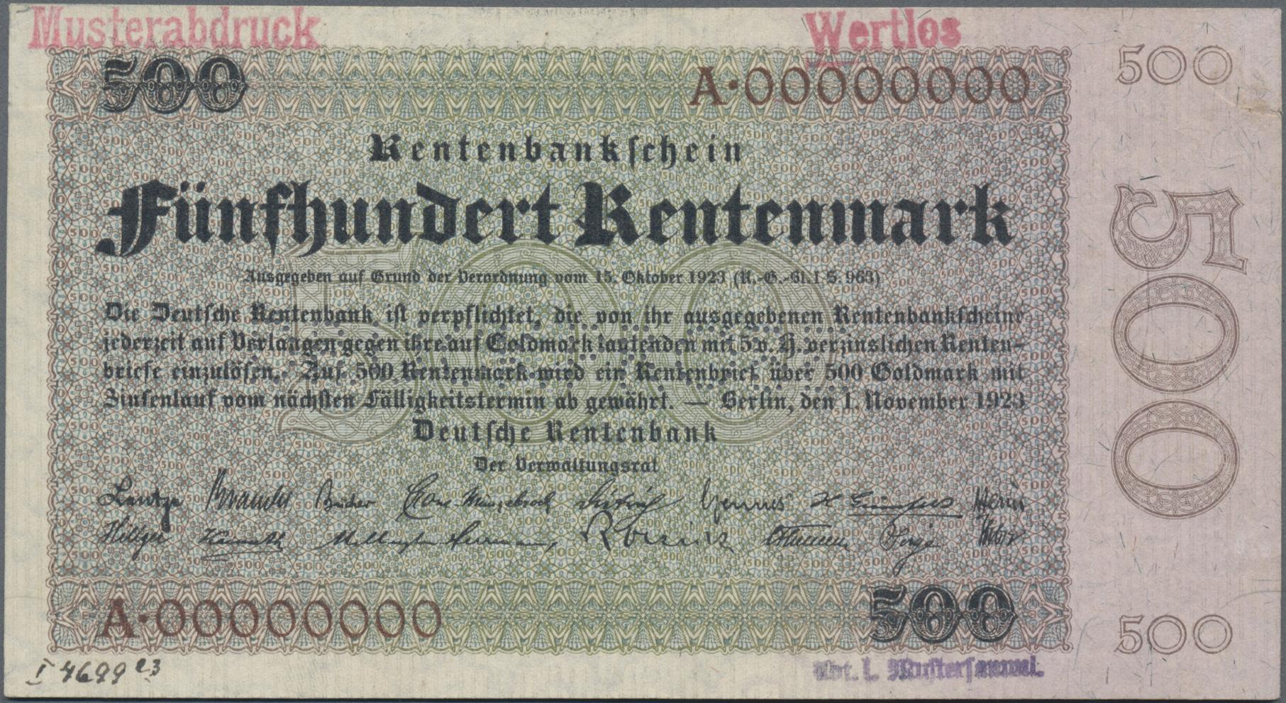 Lot 03358 - Deutschland - Deutsches Reich bis 1945 | Banknoten  -  Auktionshaus Christoph Gärtner GmbH & Co. KG Sale #45 Banknotes Germany/Numismatics