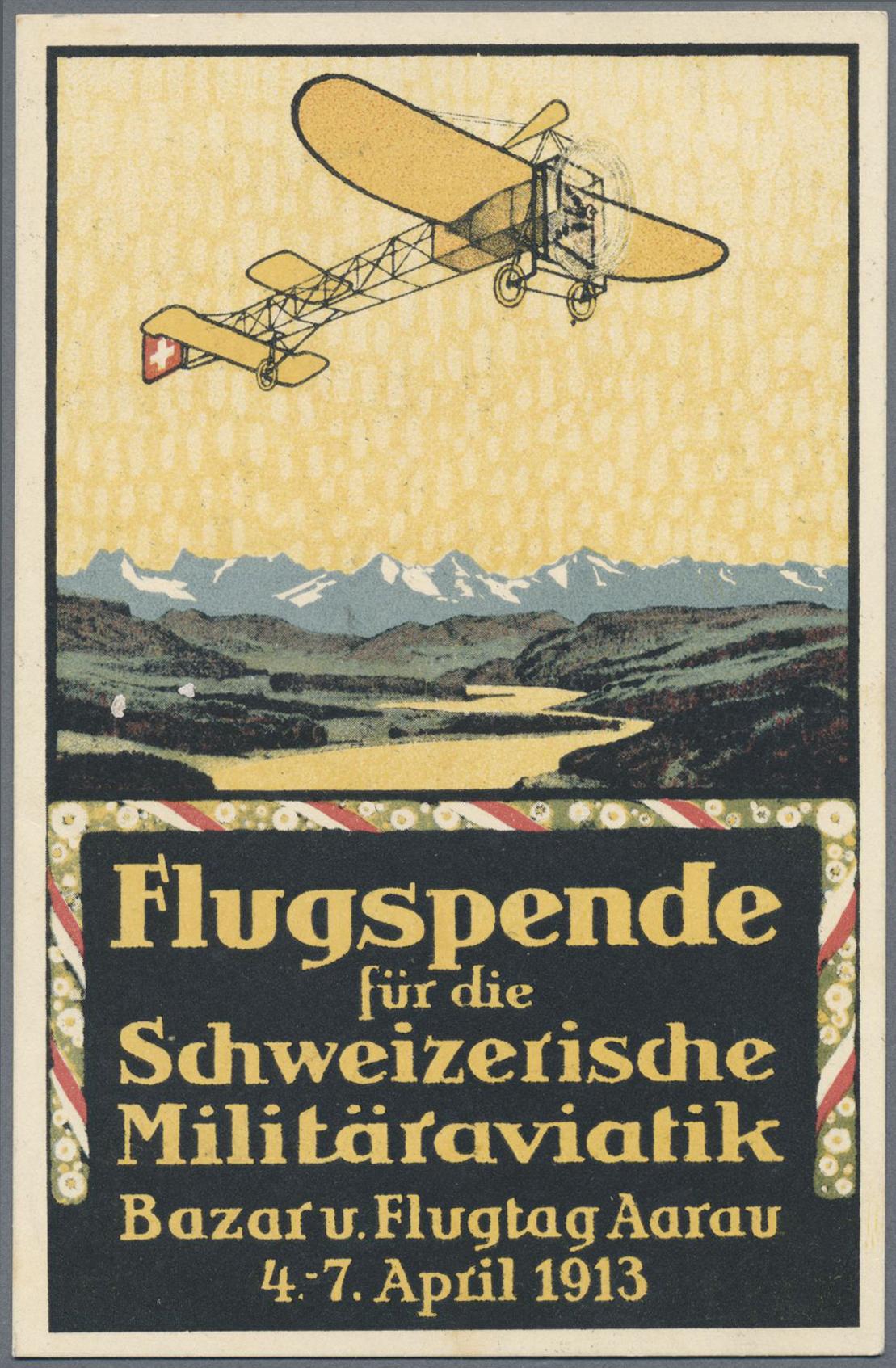 Lot 18971 - Schweiz - Halbamtliche Flugmarken  -  Auktionshaus Christoph Gärtner GmbH & Co. KG Single lots Philately Overseas & Europe. Auction #39 Day 4