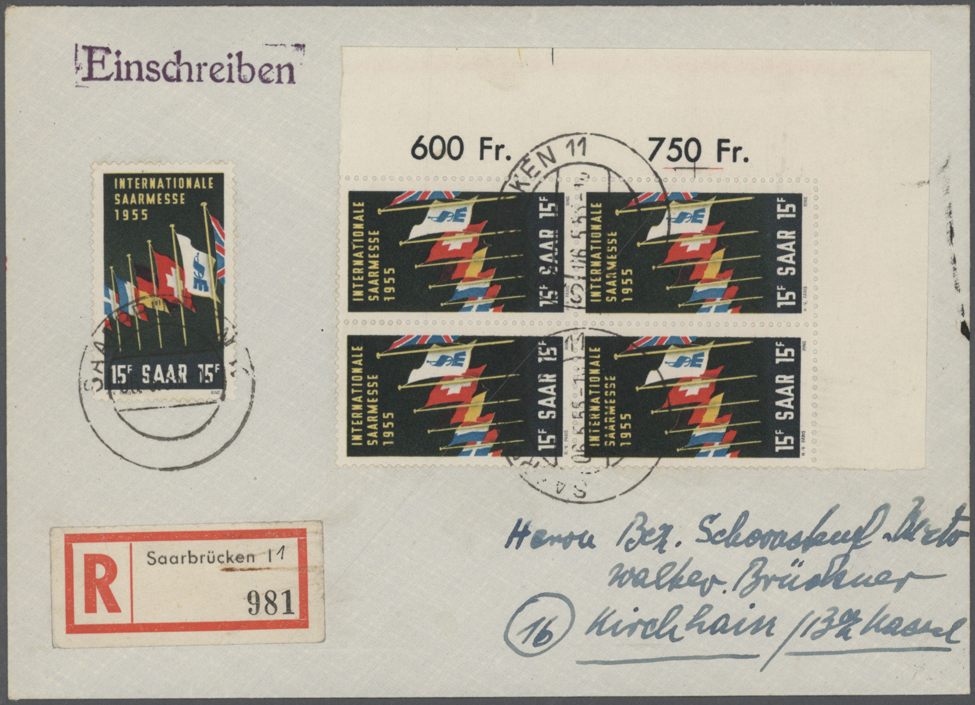 Lot 38295 - Saarland (1947/56)  -  Auktionshaus Christoph Gärtner GmbH & Co. KG Collections Germany,  Collections Supplement, Surprise boxes #39 Day 7
