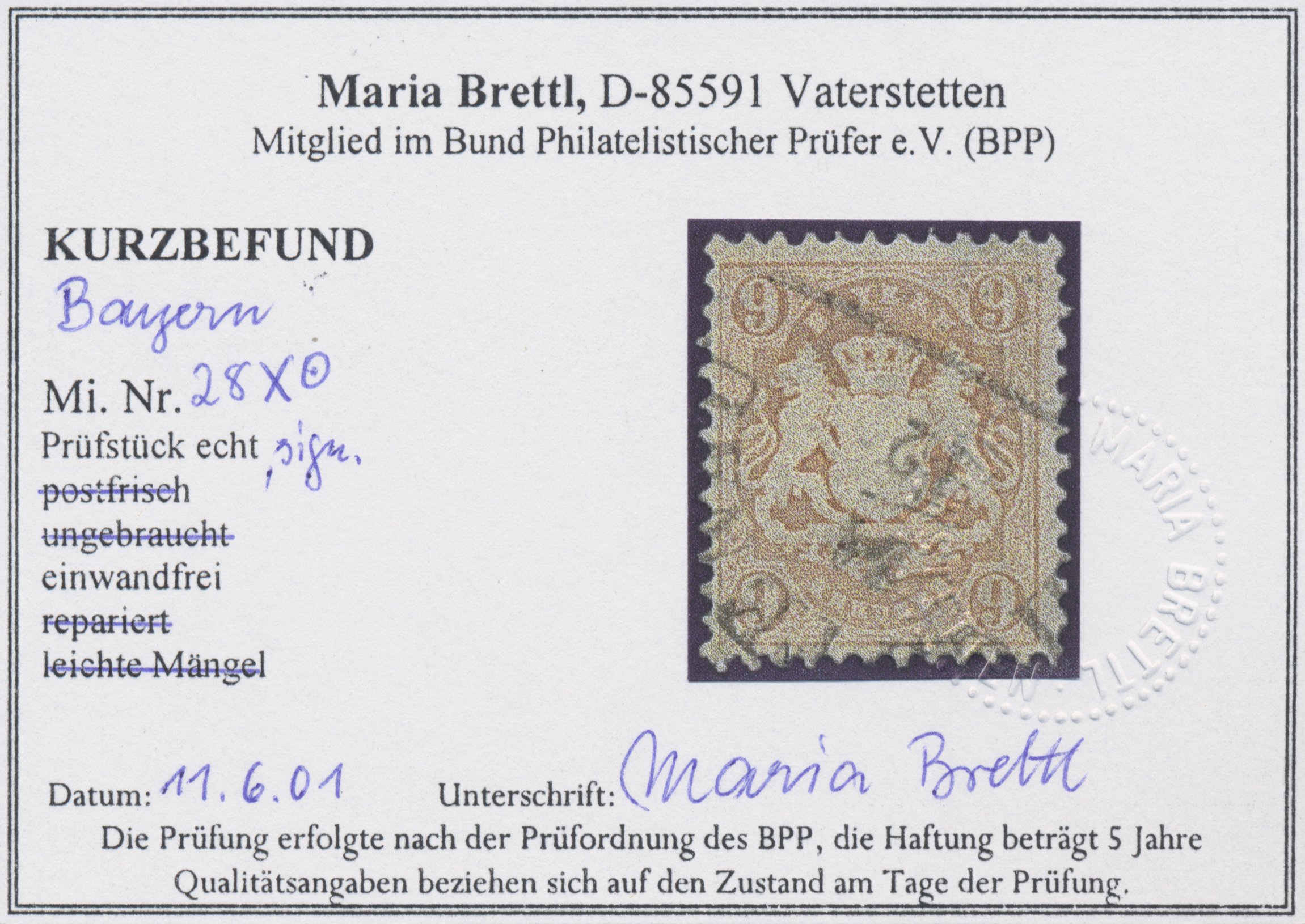 Lot 13575 - Bayern - Marken und Briefe  -  Auktionshaus Christoph Gärtner GmbH & Co. KG Sale #46 Single lots Germany - and picture post cards
