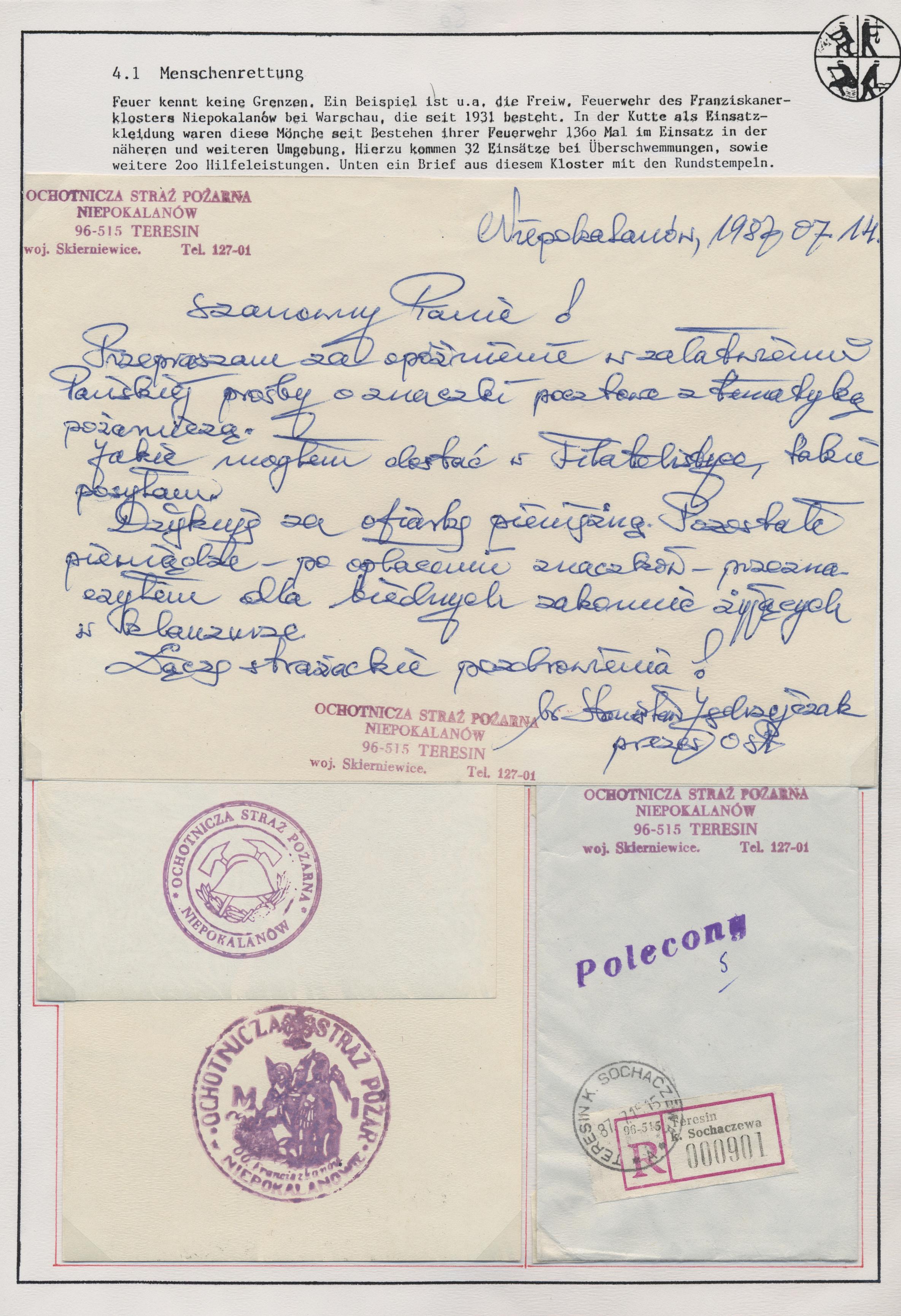 Stamp Auction - thematik: feuerwehr / firebrigade - Auction #40 ...
