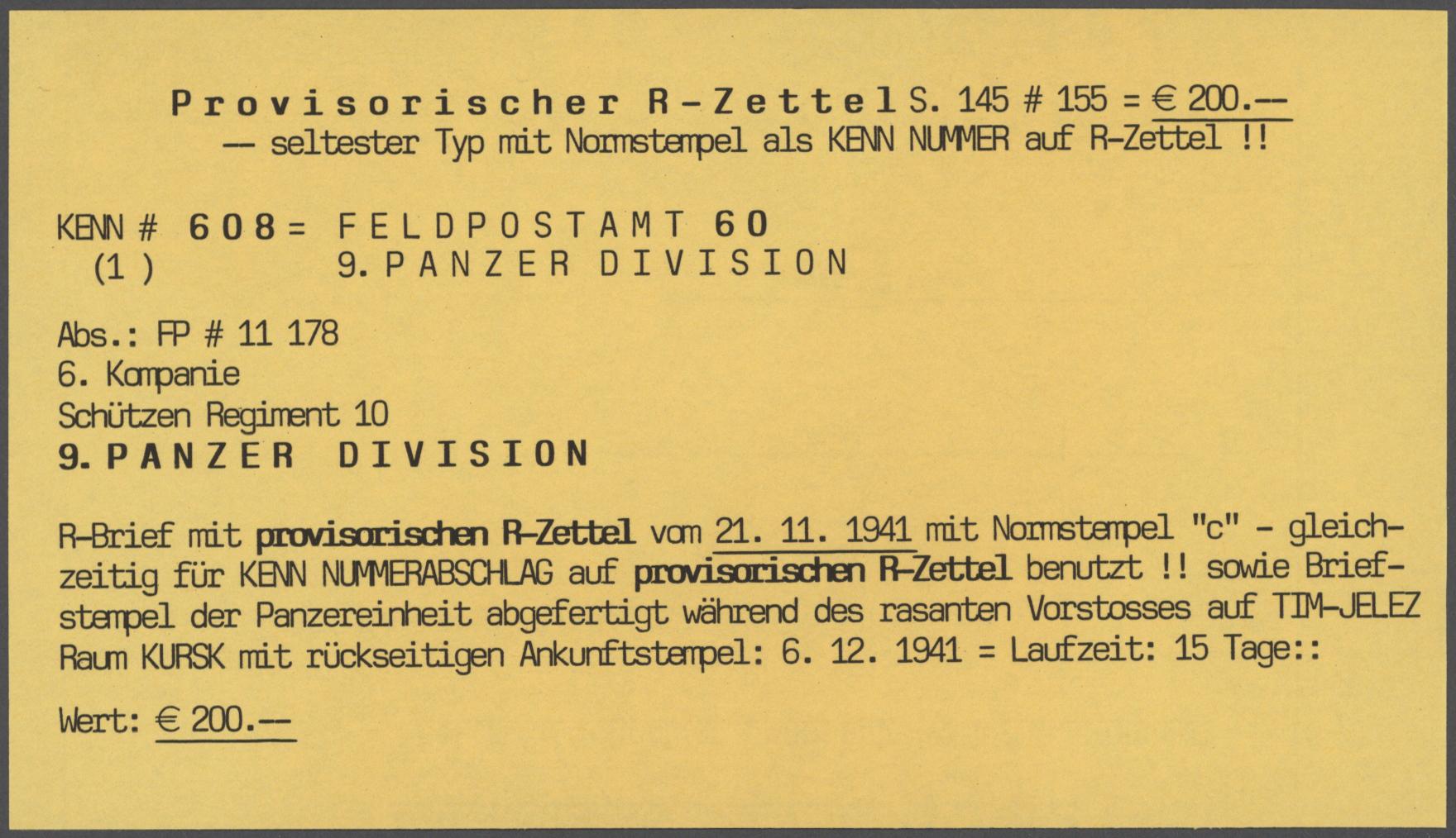 Lot 21057 - feldpost 2. weltkrieg  -  Auktionshaus Christoph Gärtner GmbH & Co. KG Sale #48 Estates, supplement Germany before & after 1945