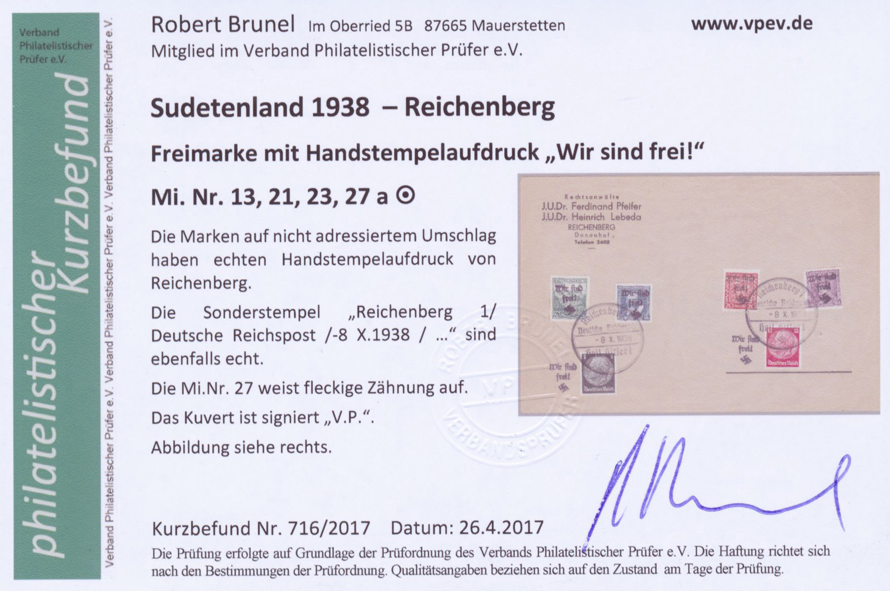 Lot 23087 - Sudetenland - Reichenberg  -  Auktionshaus Christoph Gärtner GmbH & Co. KG Single lots Germany + Picture Postcards. Auction #39 Day 5