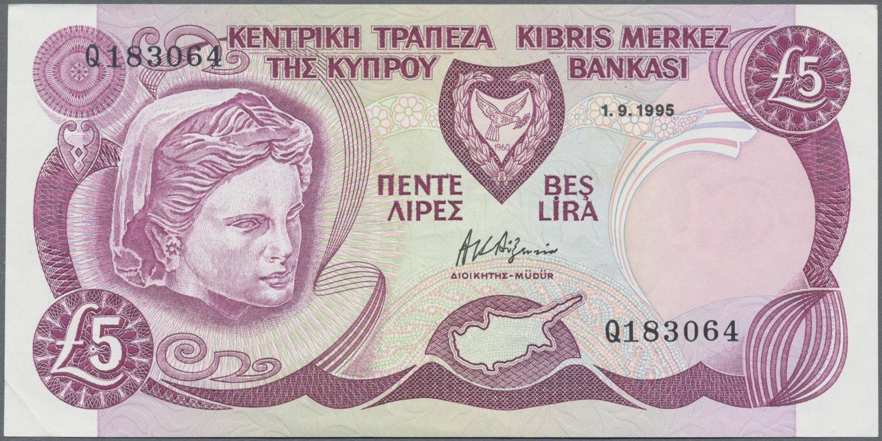 Lot 00162 - Cyprus / Zypern | Banknoten  -  Auktionshaus Christoph Gärtner GmbH & Co. KG Sale #48 The Banknotes