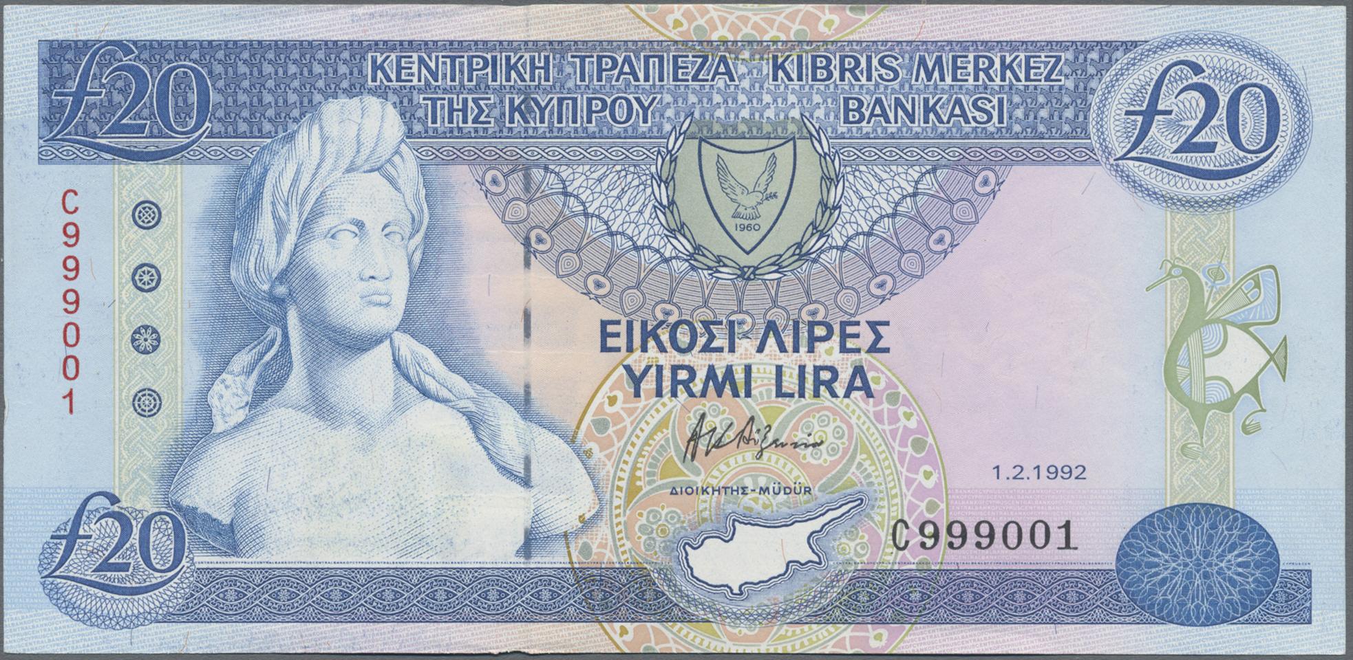 Lot 00164 - Cyprus / Zypern   Banknoten  -  Auktionshaus Christoph Gärtner GmbH & Co. KG Sale #48 The Banknotes