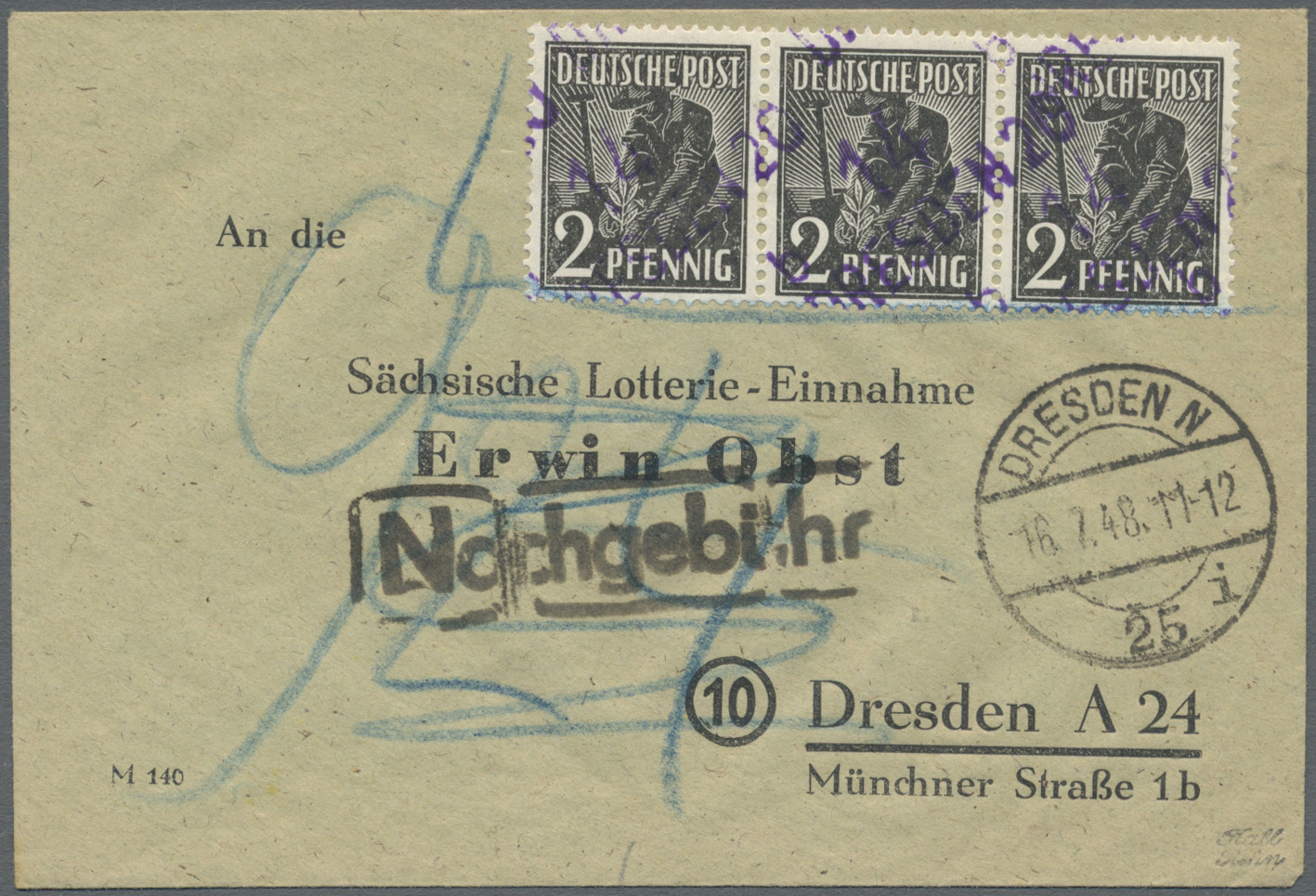 Lot 37978 - Sowj. Zone - Bezirkshandstempel  -  Auktionshaus Christoph Gärtner GmbH & Co. KG Collections Germany,  Collections Supplement, Surprise boxes #39 Day 7