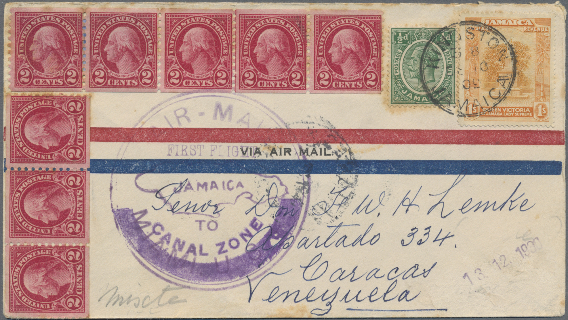Lot 13563 - jamaica  -  Auktionshaus Christoph Gärtner GmbH & Co. KG Sale #48 collections Overseas  Airmail / Ship mail & Thematics