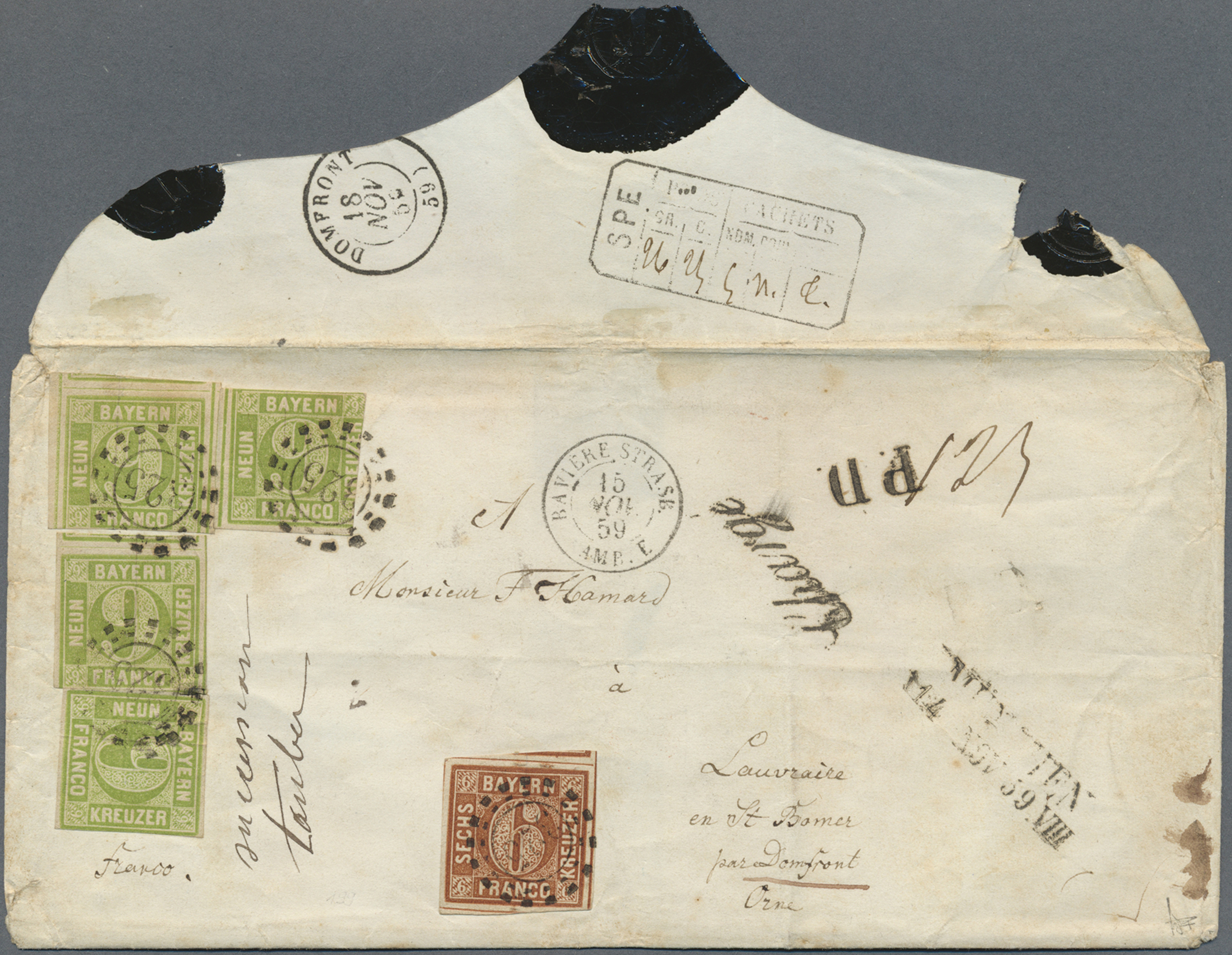 Lot 20114 - Bayern - Marken und Briefe  -  Auktionshaus Christoph Gärtner GmbH & Co. KG Single lots Germany + Picture Postcards. Auction #39 Day 5