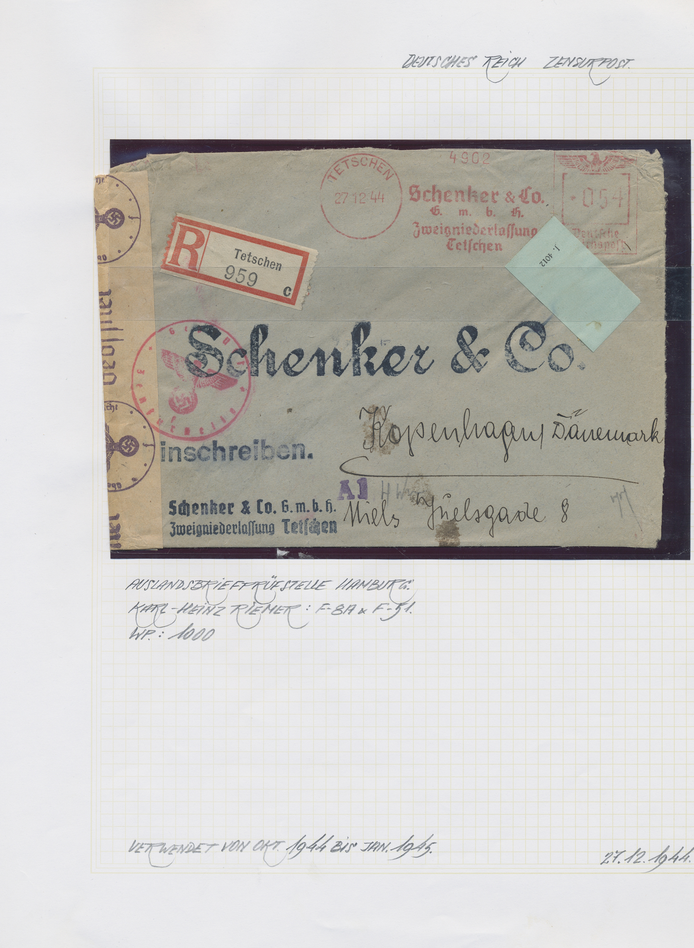 Lot 36853 - Deutsches Reich - 3. Reich  -  Auktionshaus Christoph Gärtner GmbH & Co. KG Collections Germany,  Collections Supplement, Surprise boxes #39 Day 7