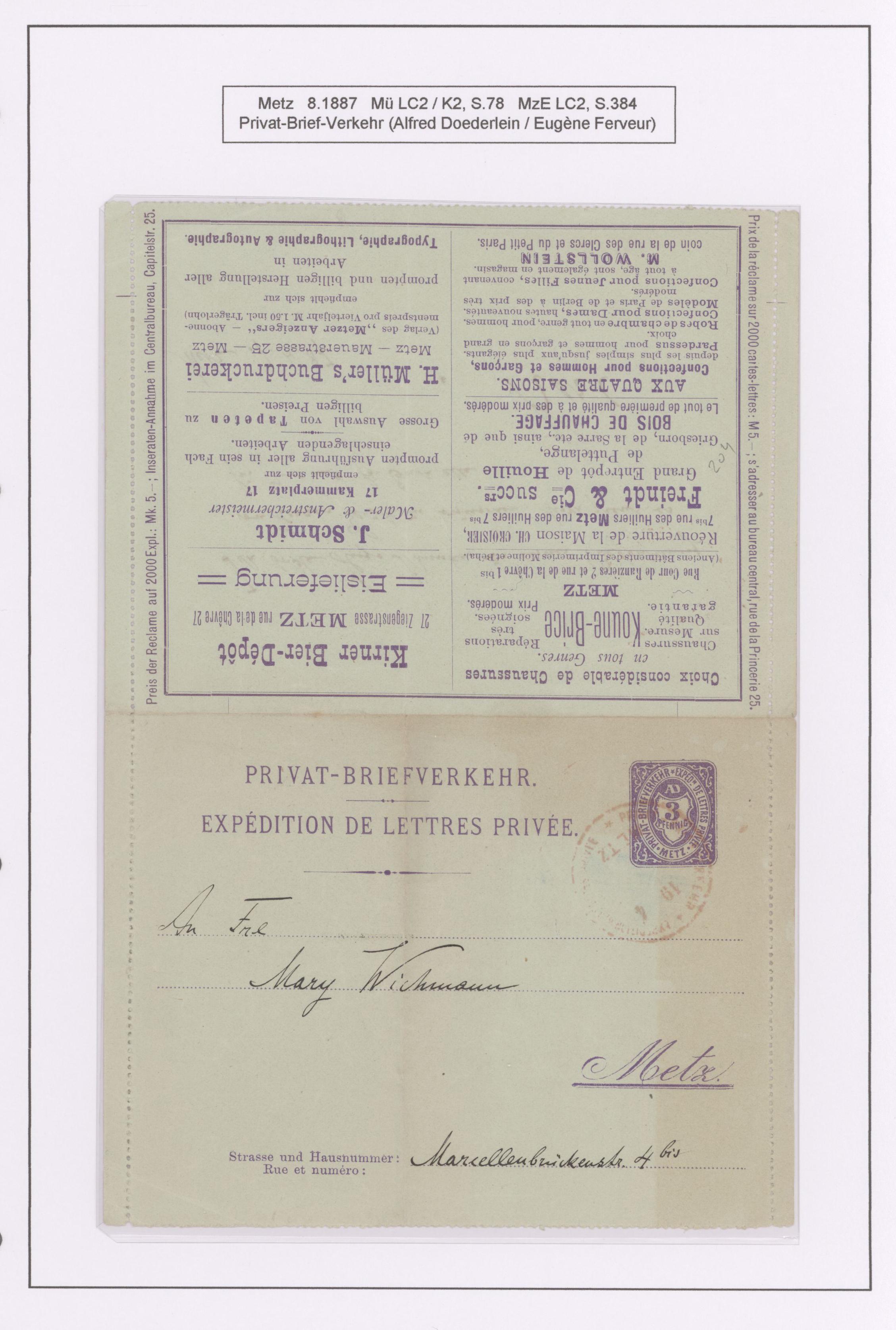 Lot 23421 - Deutsches Reich - Privatpost (Stadtpost)  -  Auktionshaus Christoph Gärtner GmbH & Co. KG 50th Auction Anniversary Auction - Day 7
