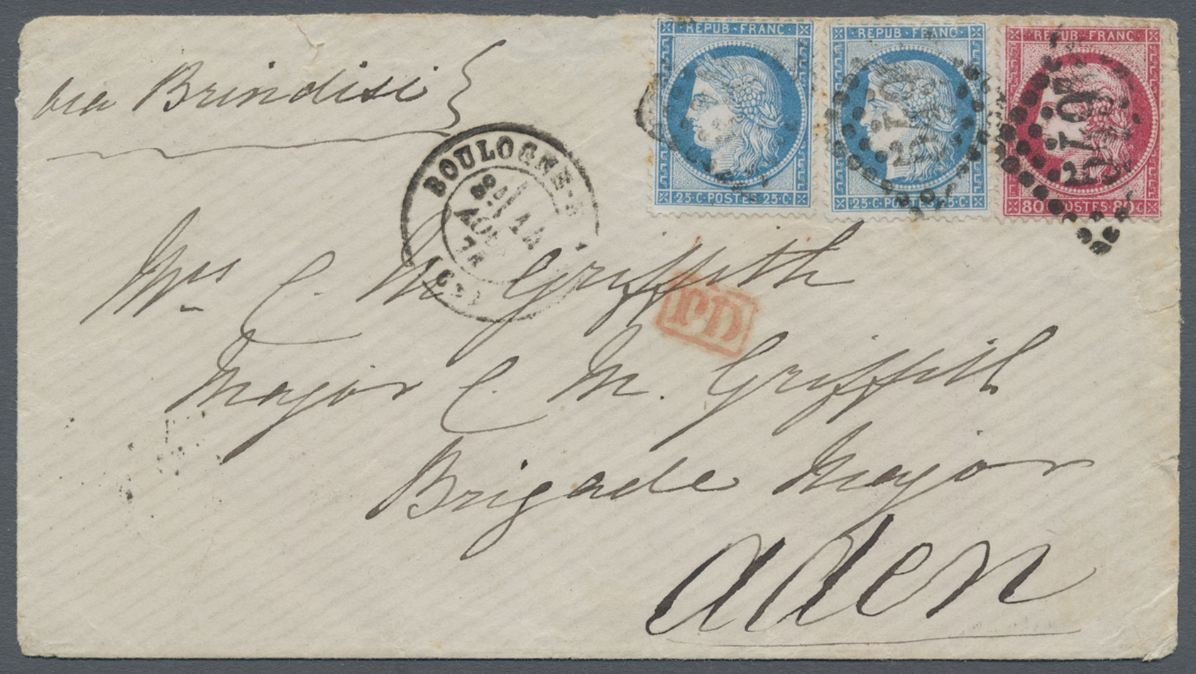 Lot 07112 - aden  -  Auktionshaus Christoph Gärtner GmbH & Co. KG Sale #43 Asia, Overseas, Air & Ships, Mail, Spain, Day 4