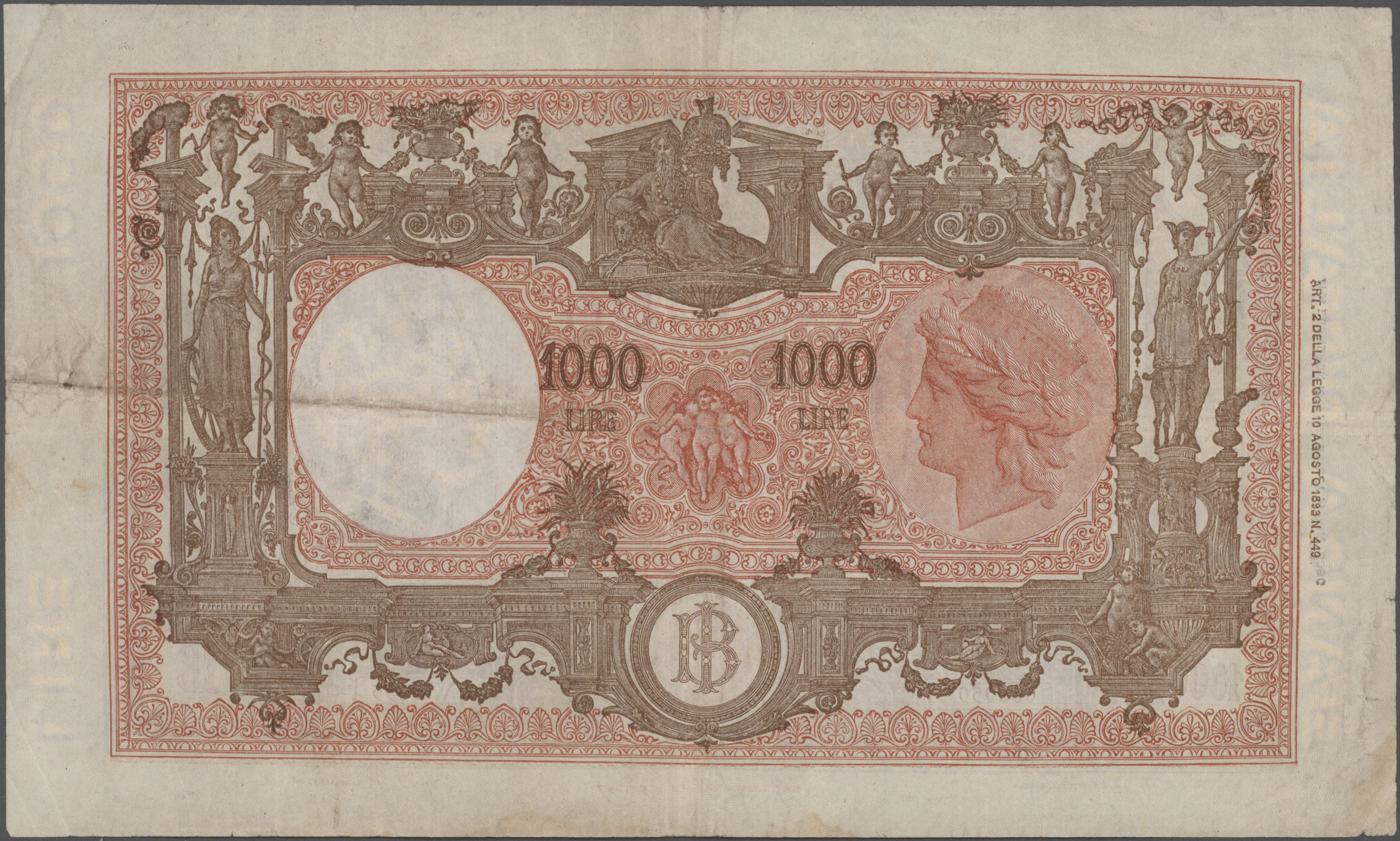 Lot 00456 - Italy / Italien | Banknoten  -  Auktionshaus Christoph Gärtner GmbH & Co. KG Sale #48 The Banknotes