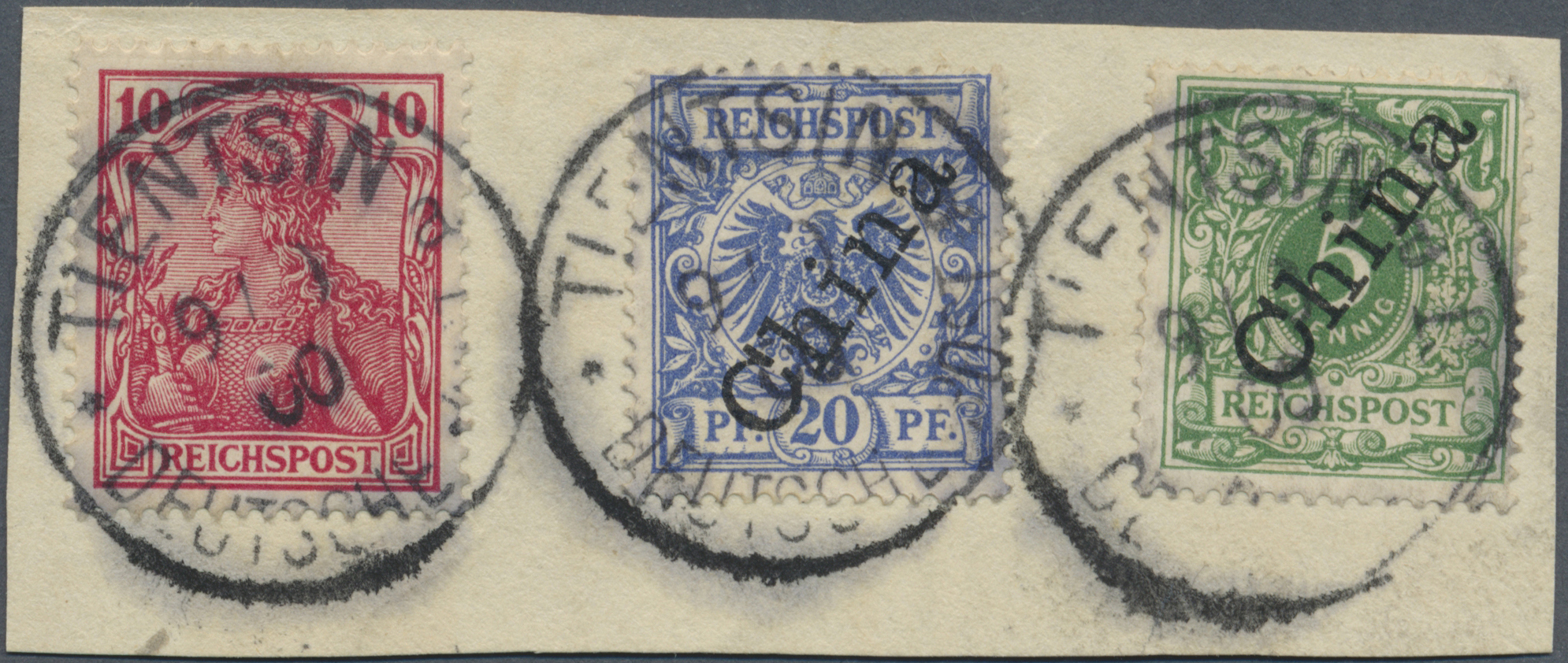 Lot 21899 - Deutsche Post in China - Mitläufer  -  Auktionshaus Christoph Gärtner GmbH & Co. KG Single lots Germany + Picture Postcards. Auction #39 Day 5