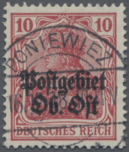 Lot 00002 - Deutsche Besetzung I. WK: Postgebiet Ober. Ost  -  Auktionshaus Christoph Gärtner GmbH & Co. KG Sale #44 The PETER ZGONC COLLECTION
