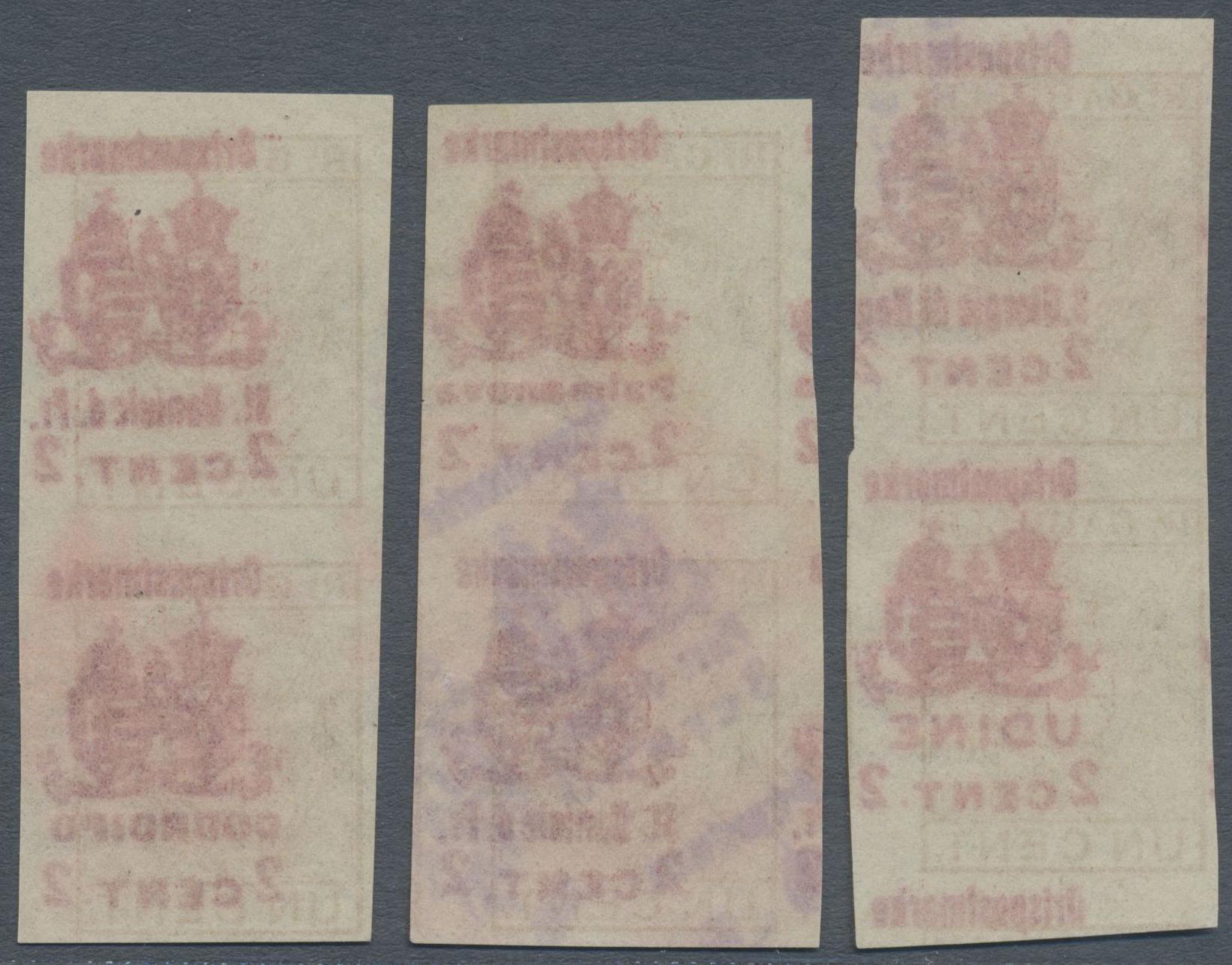 Lot 18204 - Österreichisch-Ungarische Feldpost - Italien  -  Auktionshaus Christoph Gärtner GmbH & Co. KG Single lots Philately Overseas & Europe. Auction #39 Day 4