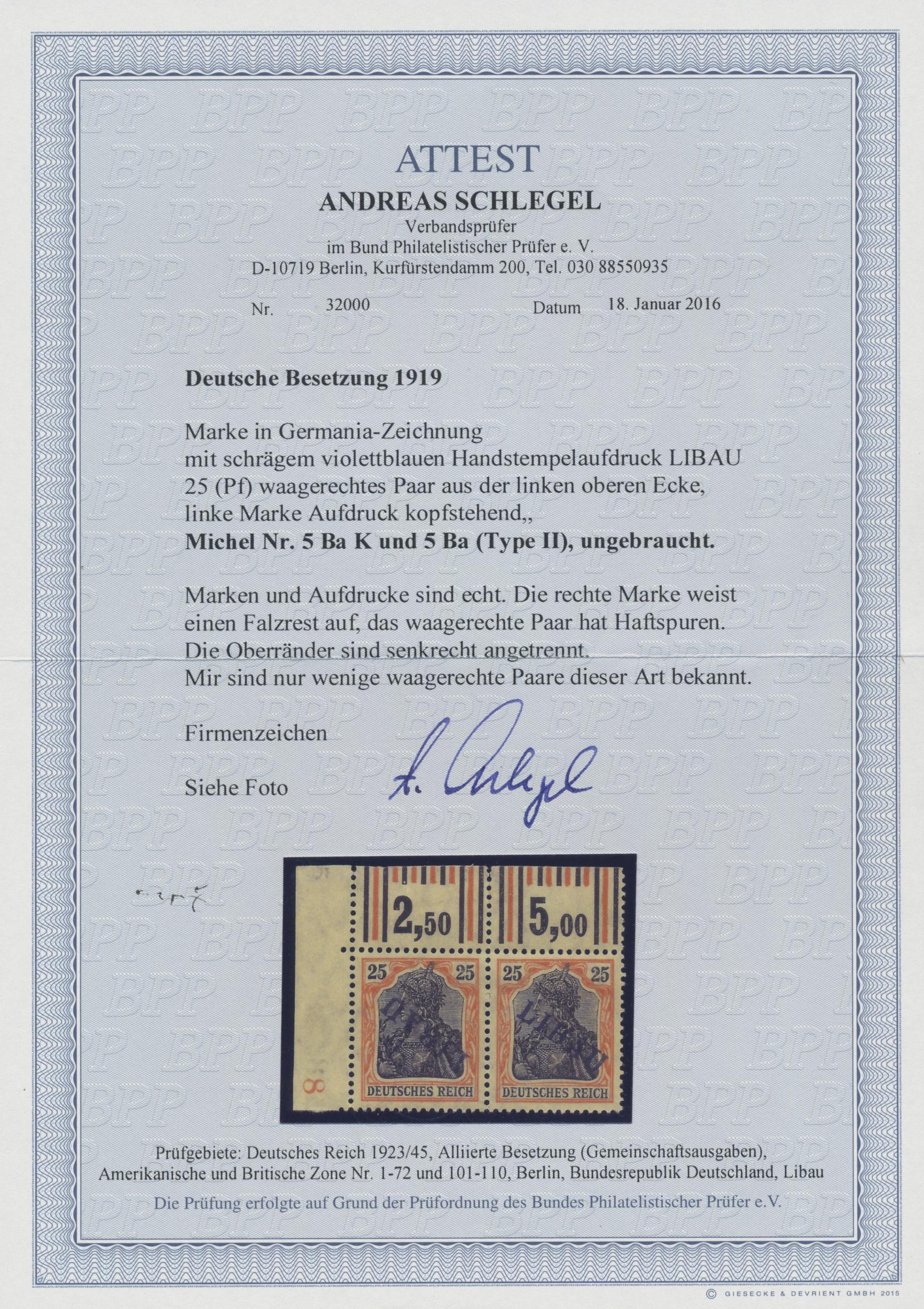 Lot 00012 - Deutsche Besetzung I. WK: Postgebiet Ober. Ost - Libau  -  Auktionshaus Christoph Gärtner GmbH & Co. KG Sale #44 The PETER ZGONC COLLECTION