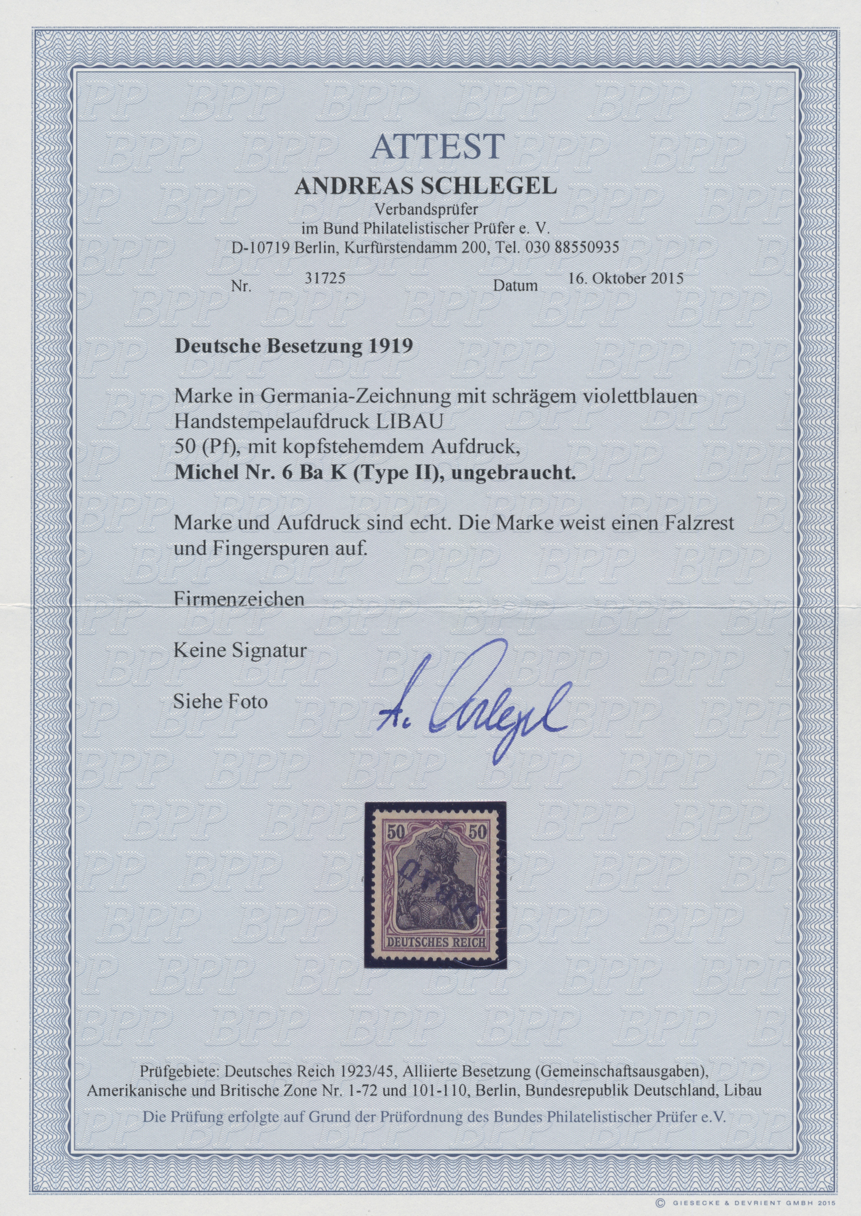 Lot 00016 - Deutsche Besetzung I. WK: Postgebiet Ober. Ost - Libau  -  Auktionshaus Christoph Gärtner GmbH & Co. KG Sale #44 The PETER ZGONC COLLECTION