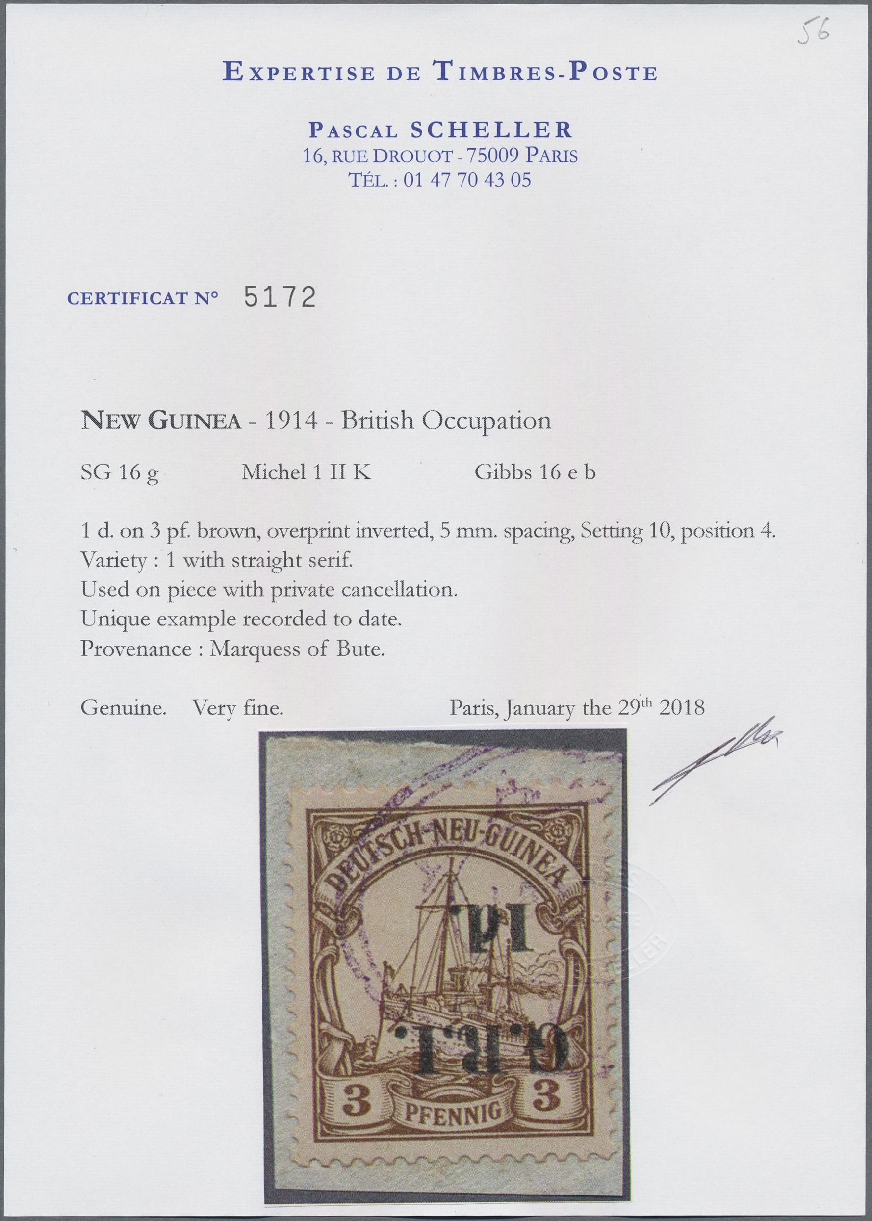 Lot 00003 - Deutsch-Neuguinea - Britische Besetzung  -  Auktionshaus Christoph Gärtner GmbH & Co. KG Special Auction Collection PETER ZGONC