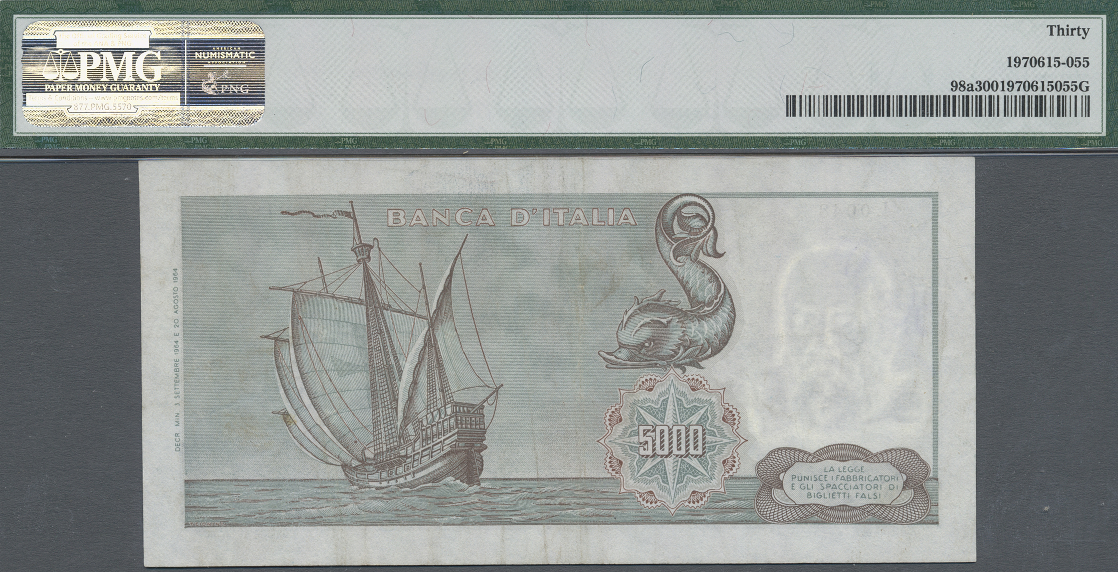 Lot 00460 - Italy / Italien | Banknoten  -  Auktionshaus Christoph Gärtner GmbH & Co. KG Sale #48 The Banknotes