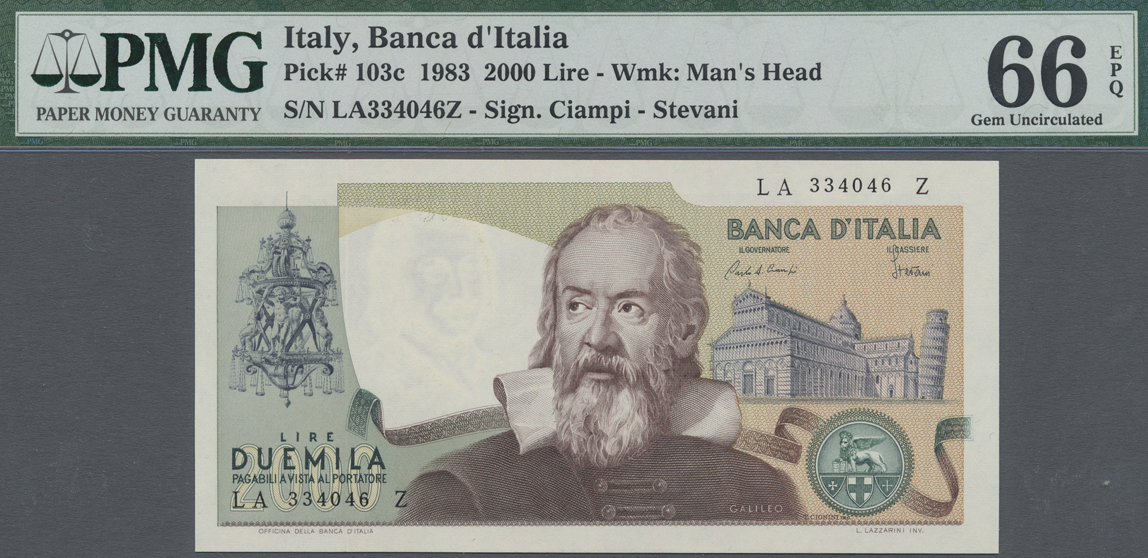 Lot 00461 - Italy / Italien | Banknoten  -  Auktionshaus Christoph Gärtner GmbH & Co. KG Sale #48 The Banknotes