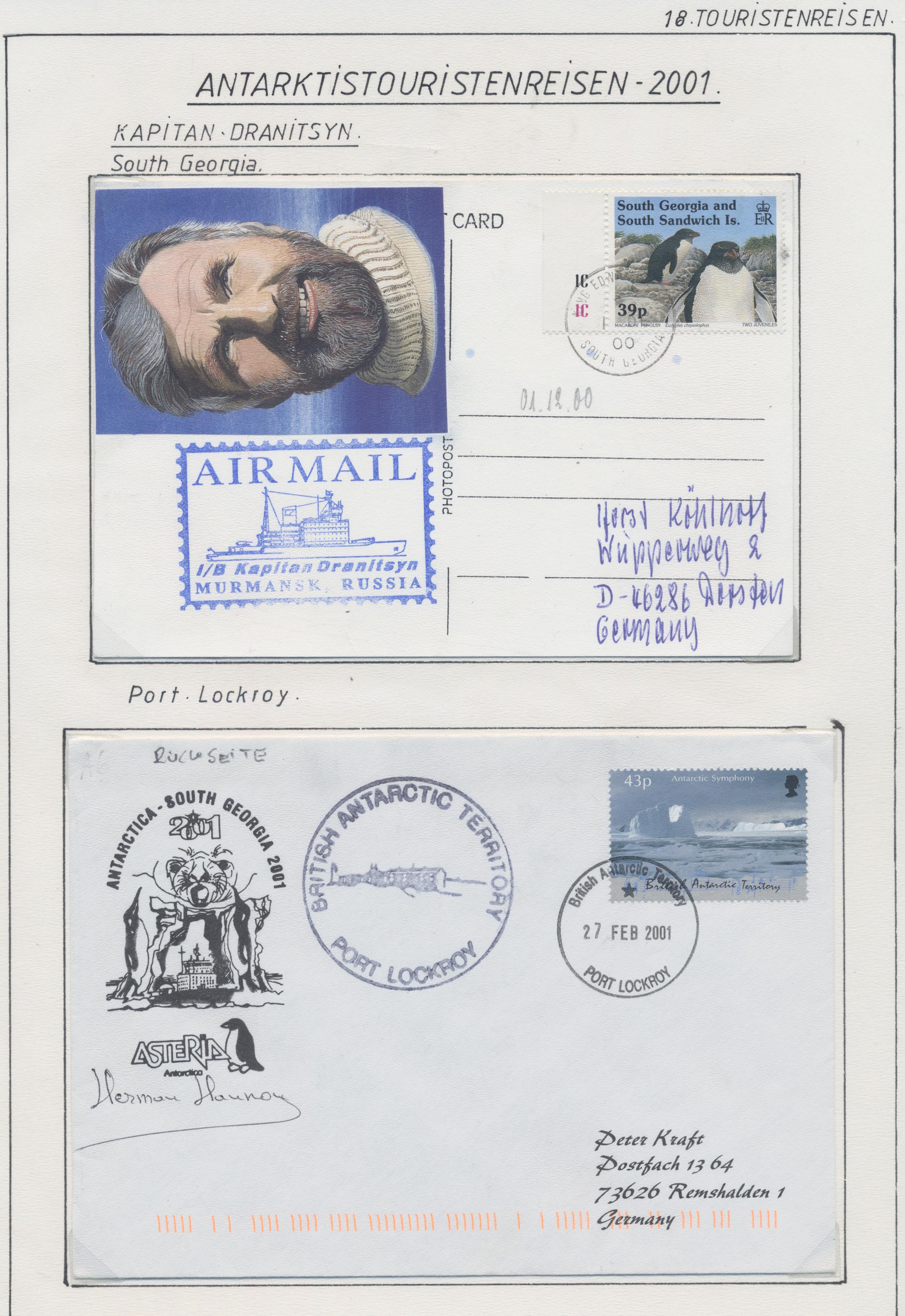 Lot 10524 - thematik: antarktis / antarctic  -  Auktionshaus Christoph Gärtner GmbH & Co. KG 51th Auction - Day 4