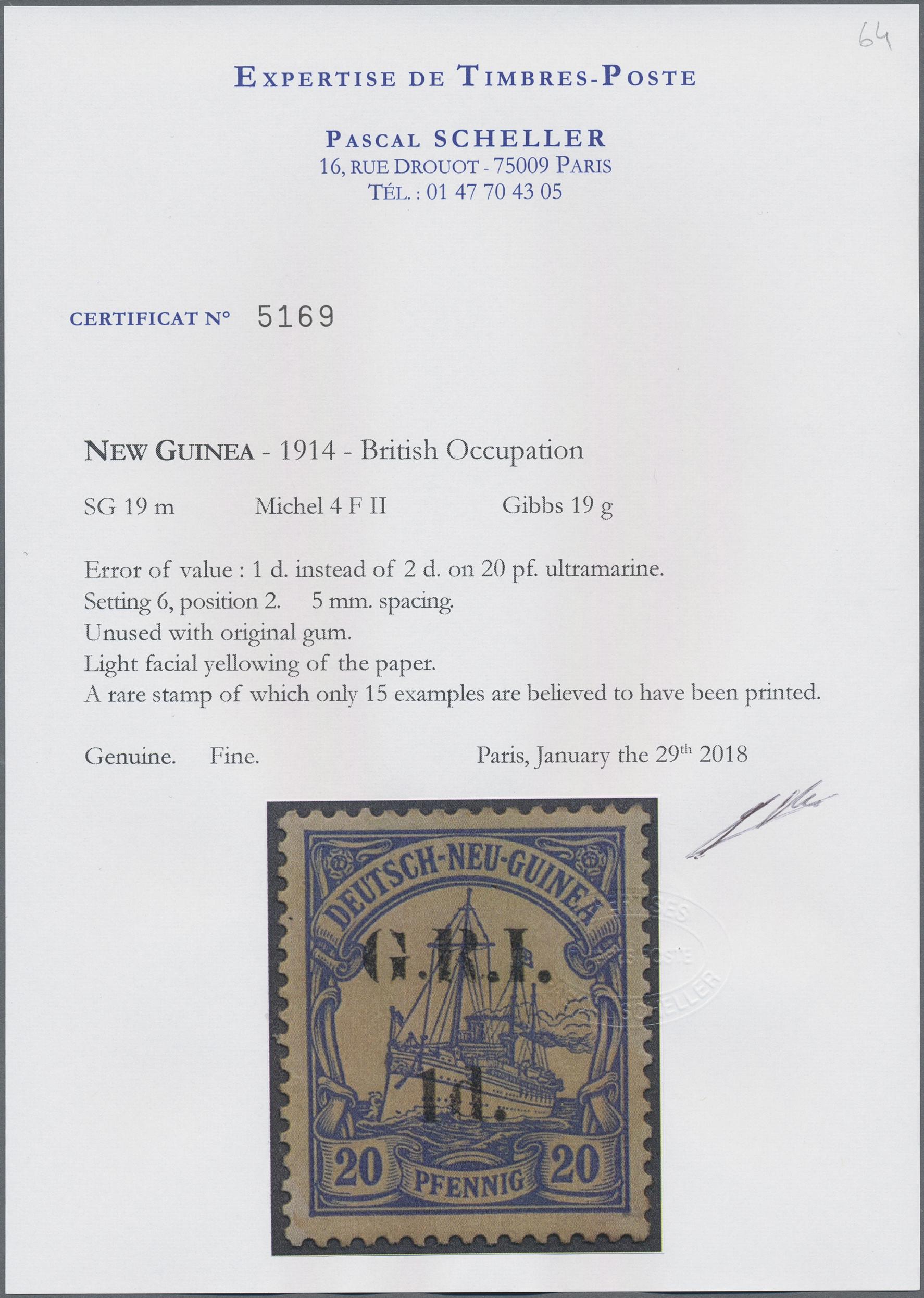 Lot 00005 - Deutsch-Neuguinea - Britische Besetzung  -  Auktionshaus Christoph Gärtner GmbH & Co. KG Special Auction Collection PETER ZGONC