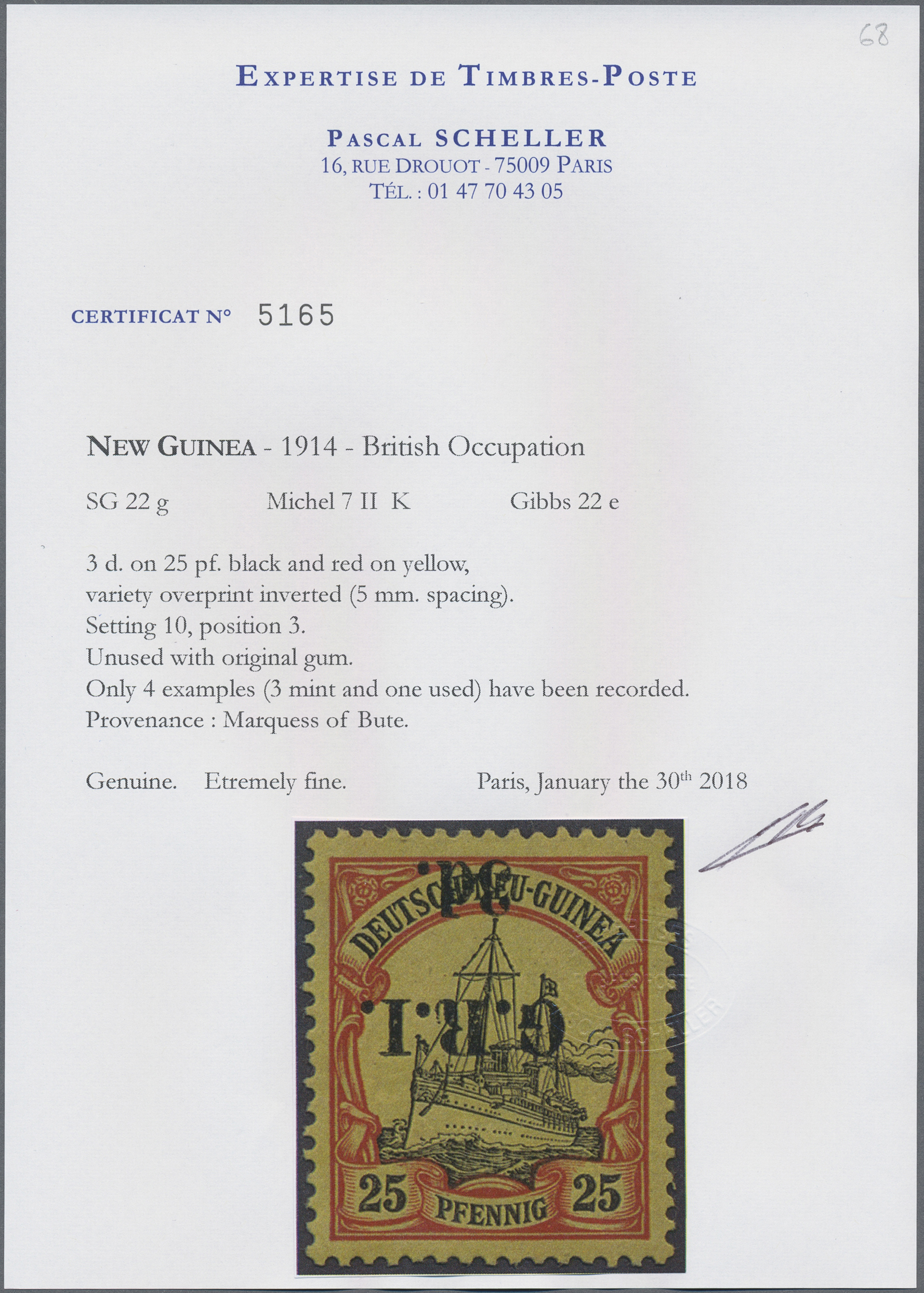 Lot 00010 - Deutsch-Neuguinea - Britische Besetzung  -  Auktionshaus Christoph Gärtner GmbH & Co. KG Special Auction Collection PETER ZGONC