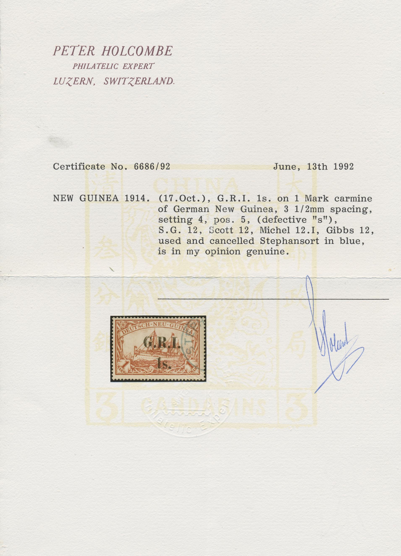 Lot 00021 - Deutsch-Neuguinea - Britische Besetzung  -  Auktionshaus Christoph Gärtner GmbH & Co. KG Special Auction Collection PETER ZGONC