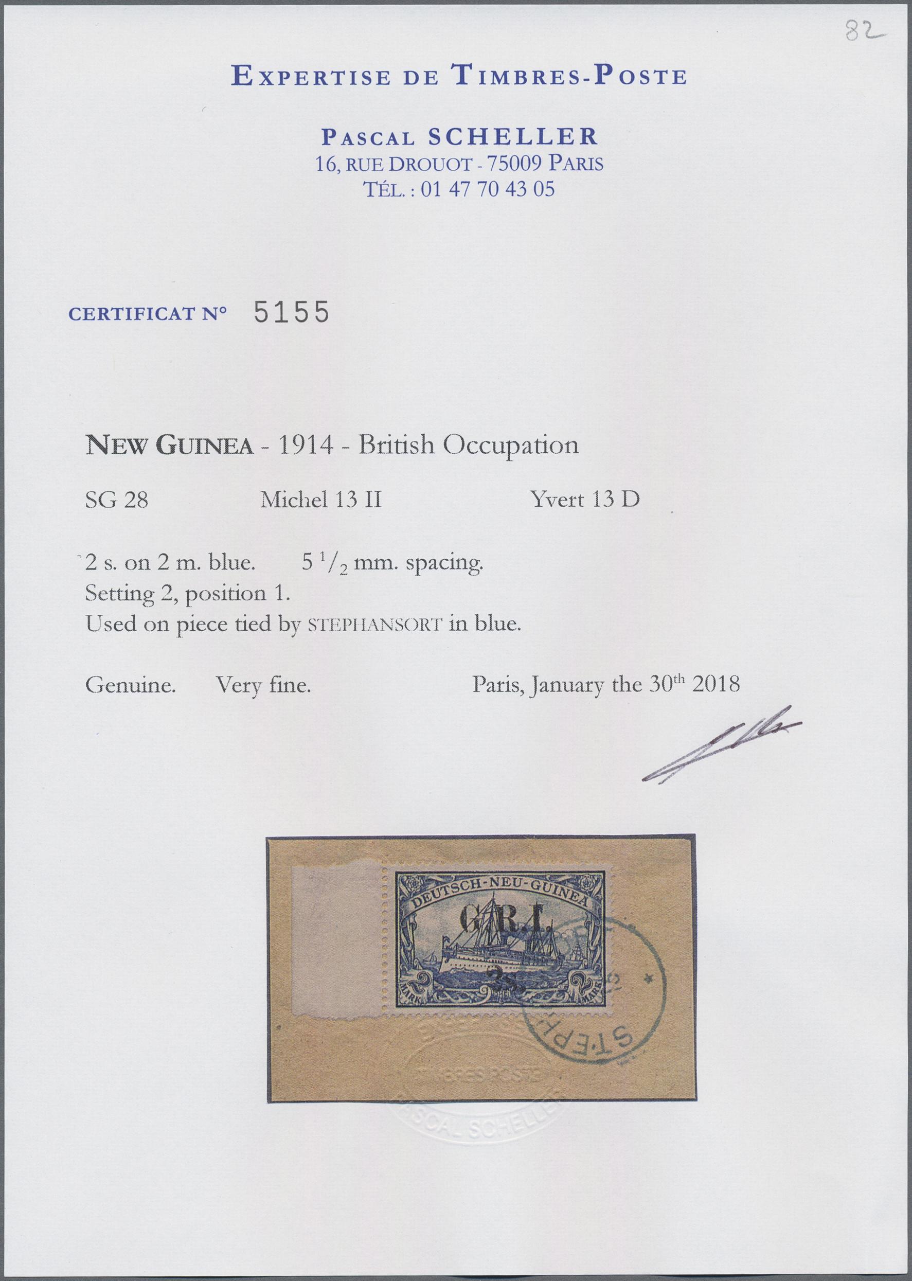 Lot 00022 - Deutsch-Neuguinea - Britische Besetzung  -  Auktionshaus Christoph Gärtner GmbH & Co. KG Special Auction Collection PETER ZGONC