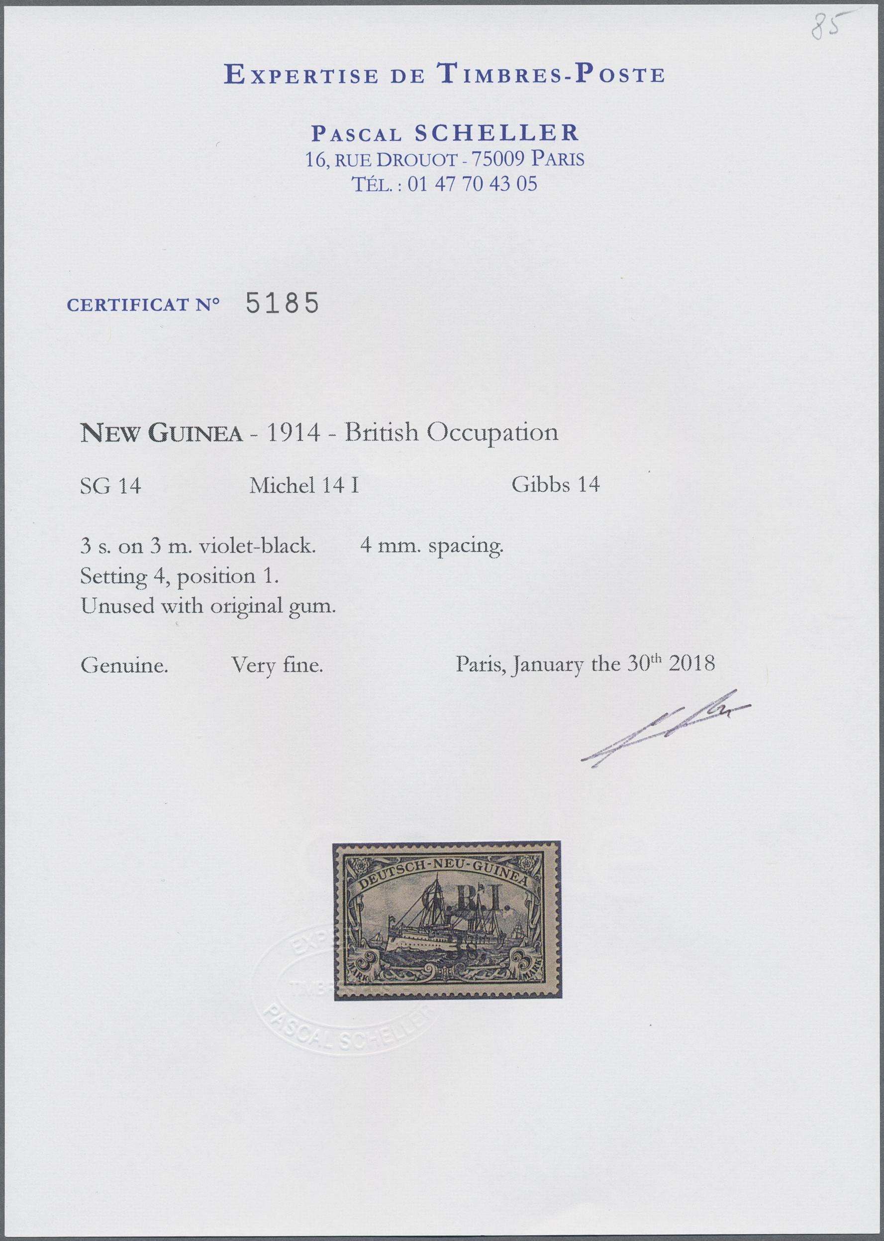 Lot 00023 - Deutsch-Neuguinea - Britische Besetzung  -  Auktionshaus Christoph Gärtner GmbH & Co. KG Special Auction Collection PETER ZGONC