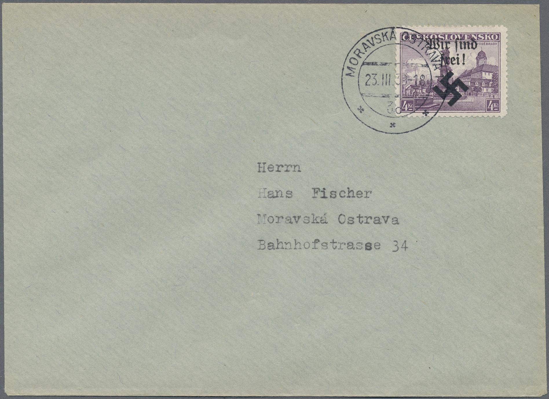 Lot 19338 - Dt. Besetzung II WK - Böhmen und Mähren - Mährisch-Ostrau  -  Auktionshaus Christoph Gärtner GmbH & Co. KG Auction #40 Germany, Picture Post Cards, Collections Overseas, Thematics