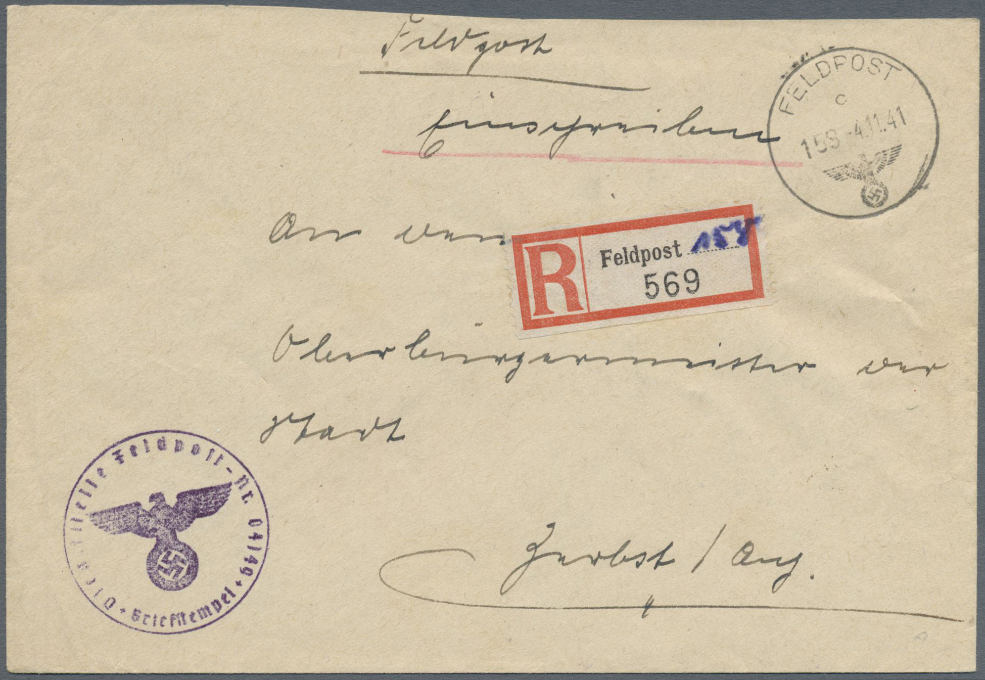 Lot 37417 - feldpost 1. weltkrieg  -  Auktionshaus Christoph Gärtner GmbH & Co. KG Collections Germany,  Collections Supplement, Surprise boxes #39 Day 7