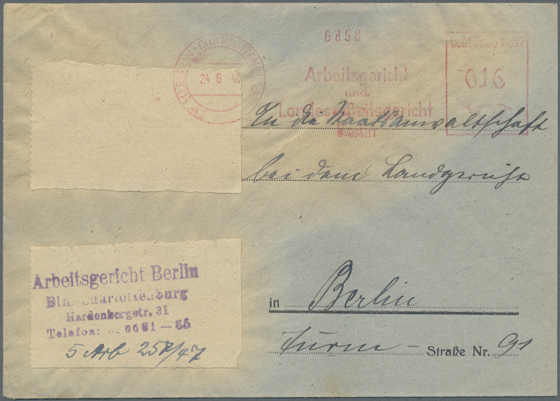 Lot 24847 - Berlin - Besonderheiten  -  Auktionshaus Christoph Gärtner GmbH & Co. KG Single lots Germany + Picture Postcards. Auction #39 Day 5