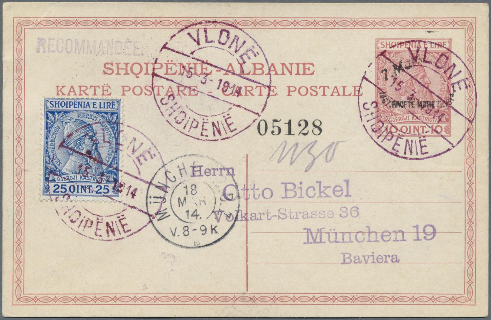 Lot 15564 - Albanien - Ganzsachen  -  Auktionshaus Christoph Gärtner GmbH & Co. KG Single lots Philately Overseas & Europe. Auction #39 Day 4