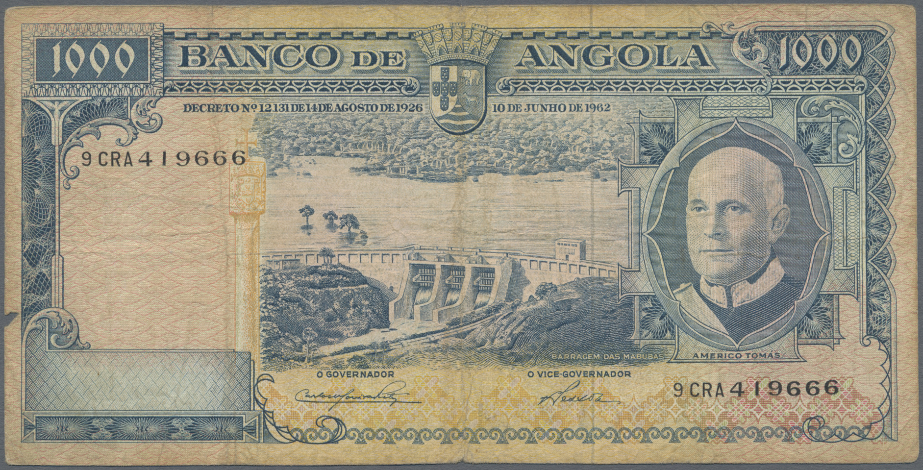 Lot 01002 - Angola | Banknoten  -  Auktionshaus Christoph Gärtner GmbH & Co. KG Sale #48 The Banknotes