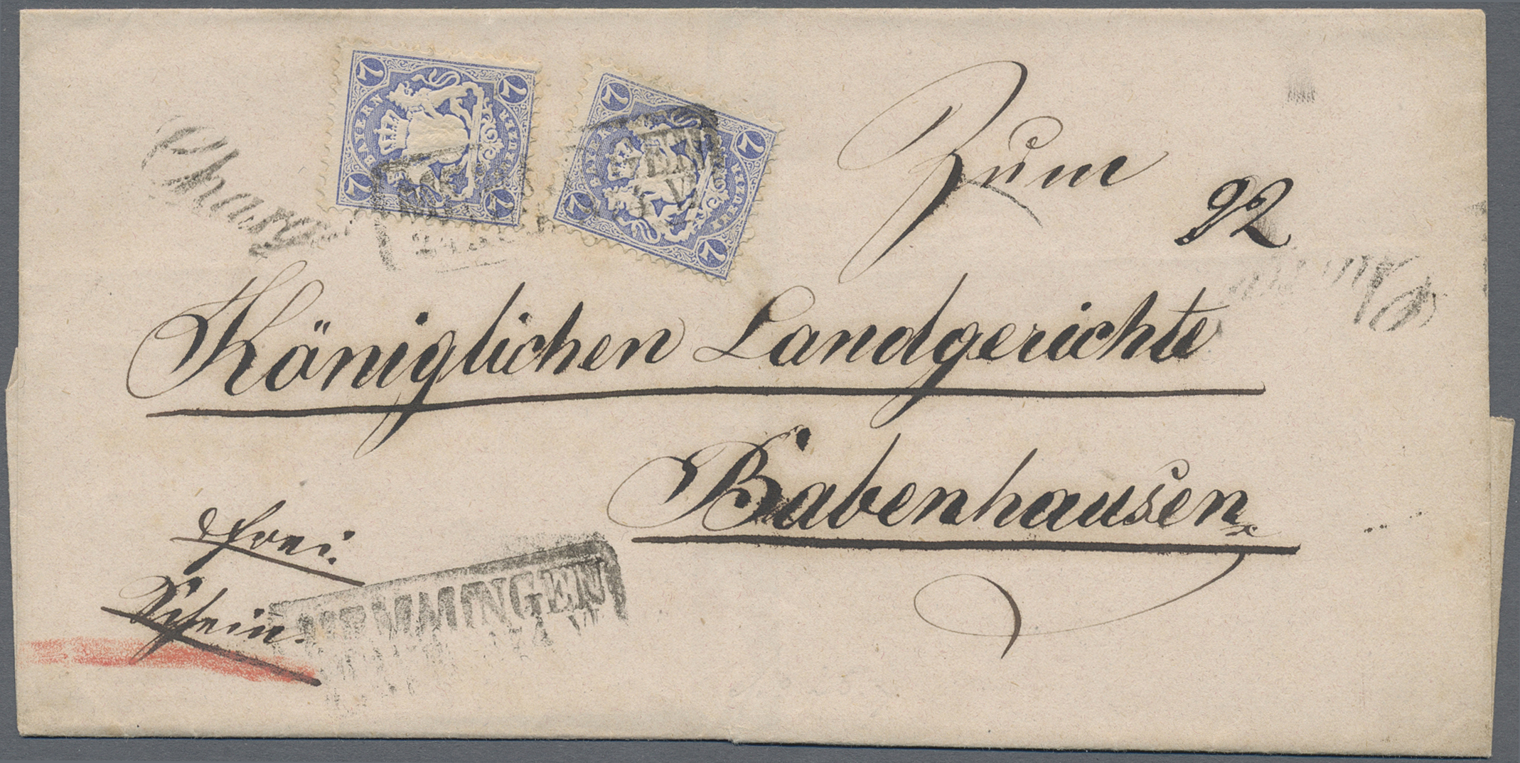 Lot 13564 - Bayern - Marken und Briefe  -  Auktionshaus Christoph Gärtner GmbH & Co. KG Sale #46 Single lots Germany - and picture post cards