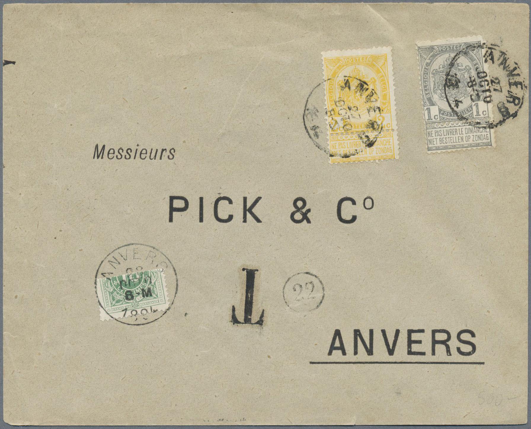 Lot 15655 - Belgien - Portomarken  -  Auktionshaus Christoph Gärtner GmbH & Co. KG Single lots Philately Overseas & Europe. Auction #39 Day 4