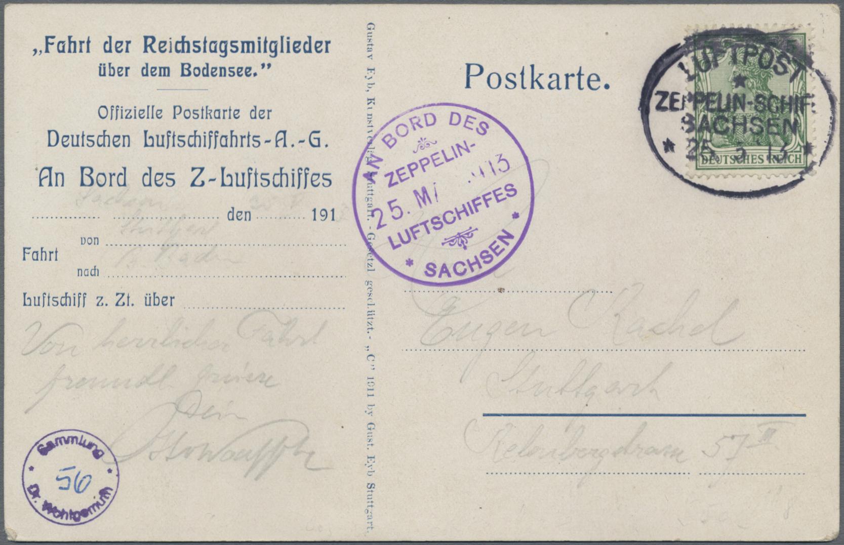 Lot 08518A - zeppelinpost deutschland  -  Auktionshaus Christoph Gärtner GmbH & Co. KG 50th Auction Anniversary Auction - Day 3