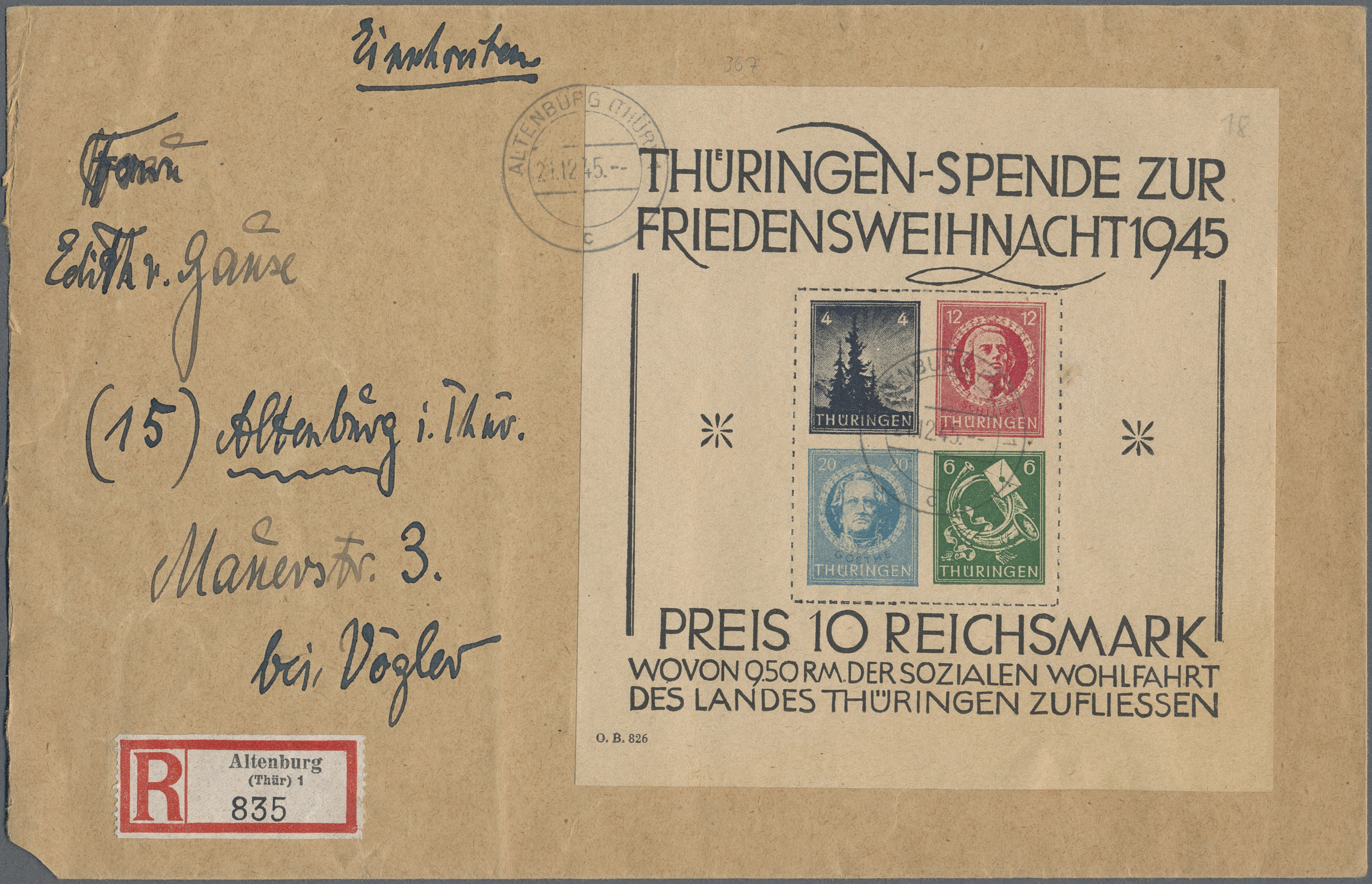 Lot 37329 - Sowjetische Zone - Thüringen  -  Auktionshaus Christoph Gärtner GmbH & Co. KG Sale #44 Collections Germany