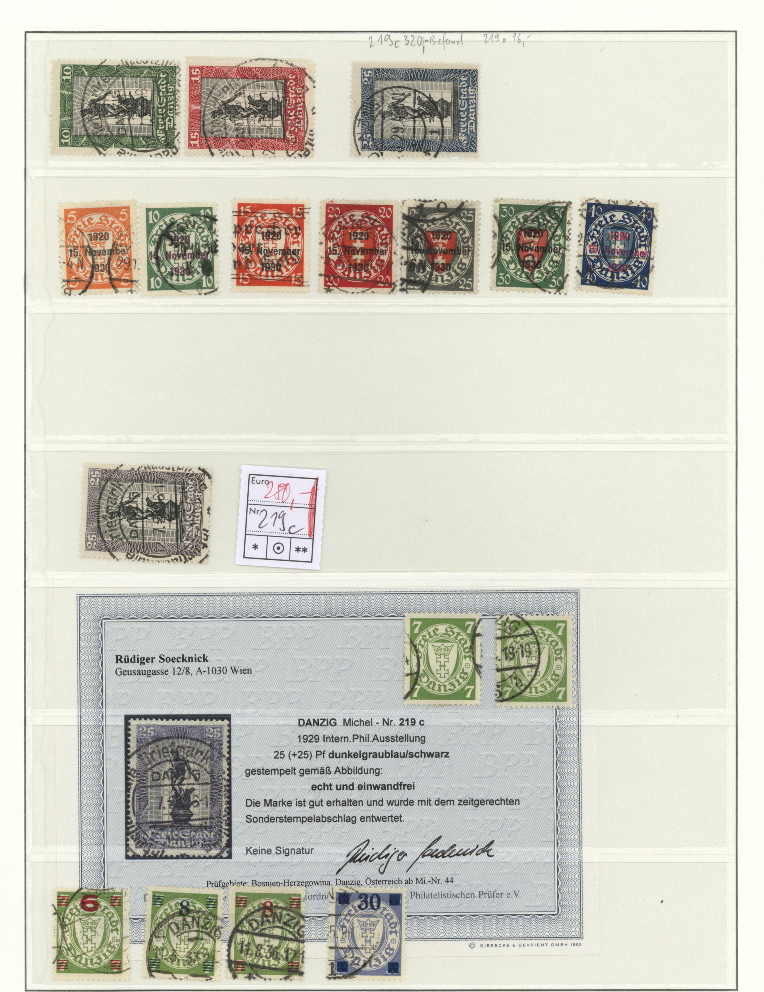 Lot 37463 - danzig  -  Auktionshaus Christoph Gärtner GmbH & Co. KG Collections Germany,  Collections Supplement, Surprise boxes #39 Day 7