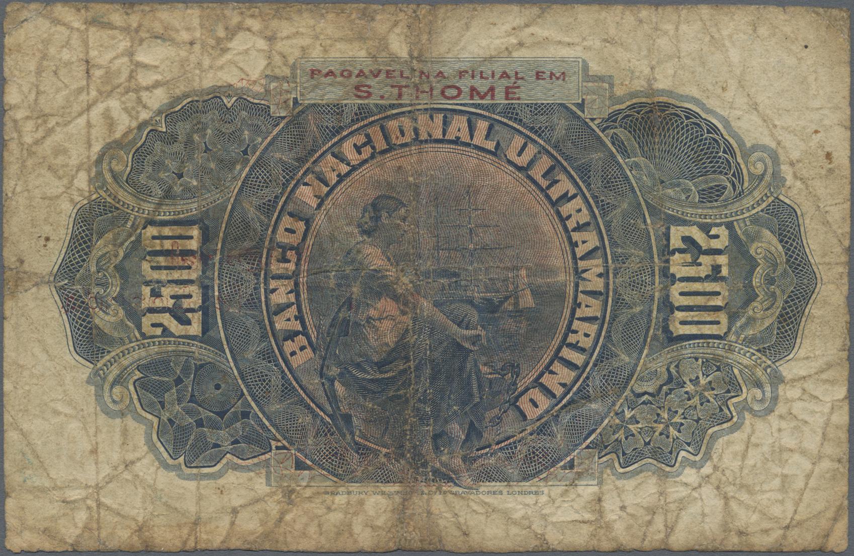 Lot 00025 - Angola | Banknoten  -  Auktionshaus Christoph Gärtner GmbH & Co. KG Sale #46 The Banknotes Worldwide section of the 46th Christoph Gärtner Auction