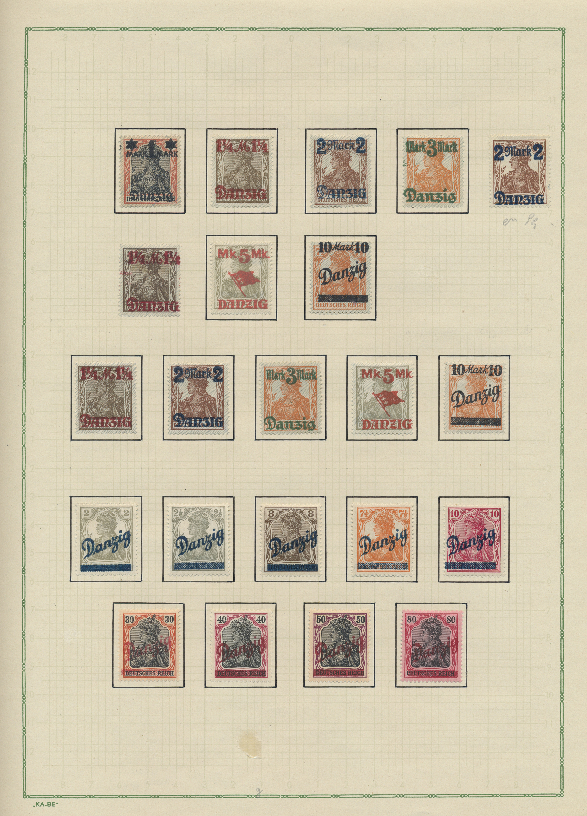 Lot 37470 - danzig  -  Auktionshaus Christoph Gärtner GmbH & Co. KG Collections Germany,  Collections Supplement, Surprise boxes #39 Day 7