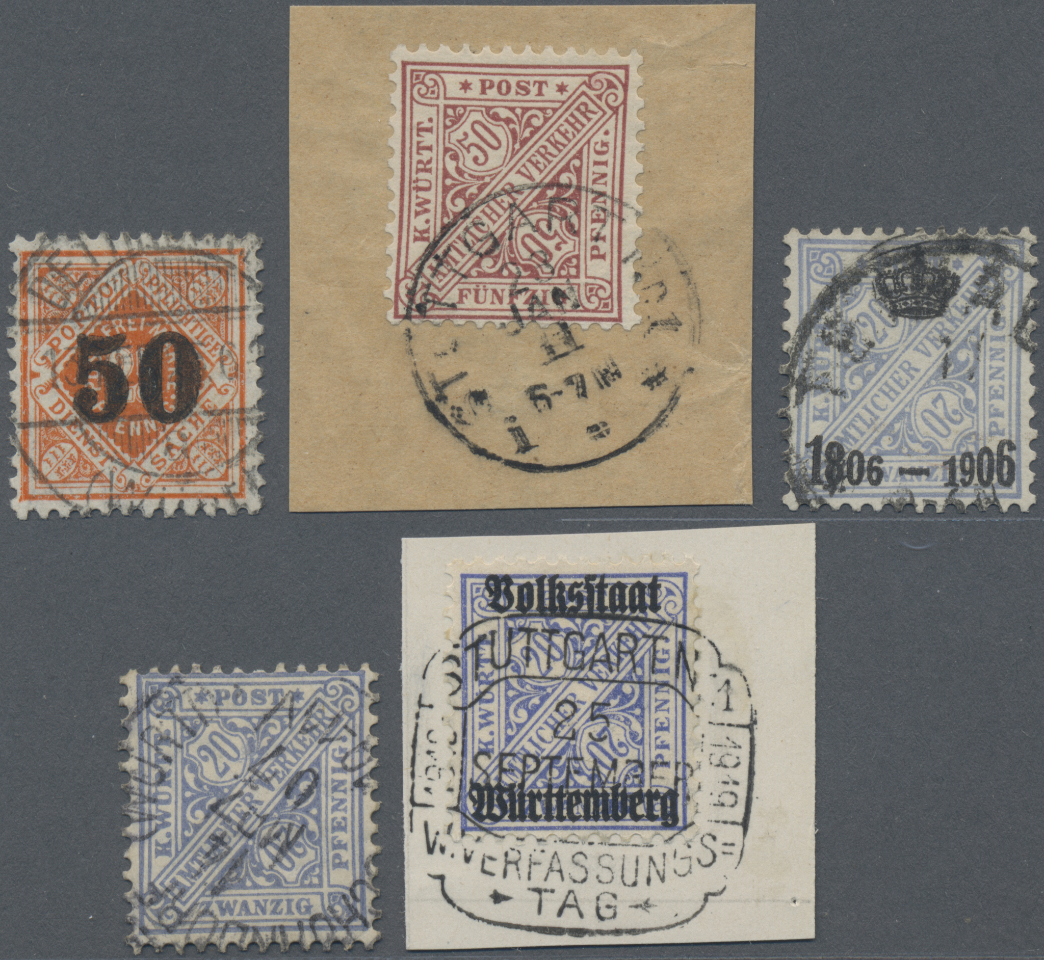 Lot 36330 - Württemberg - Marken und Briefe  -  Auktionshaus Christoph Gärtner GmbH & Co. KG Sale #44 Collections Germany