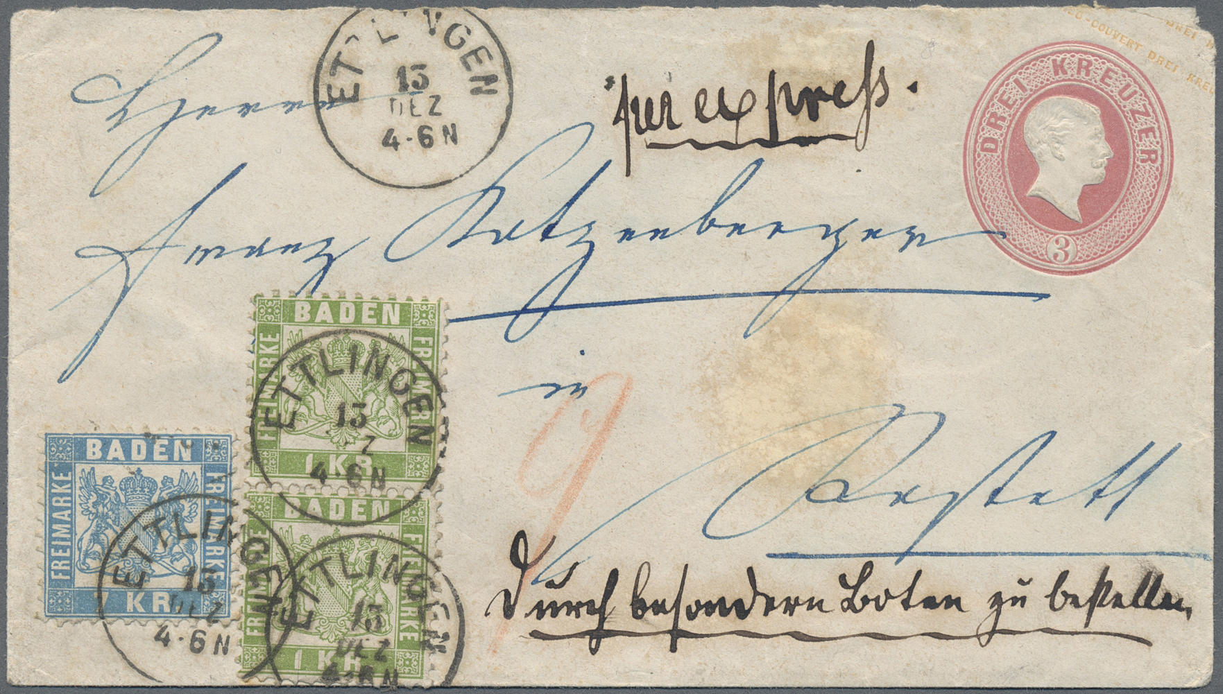Lot 13515 - Baden - Ganzsachen  -  Auktionshaus Christoph Gärtner GmbH & Co. KG Sale #46 Single lots Germany - and picture post cards