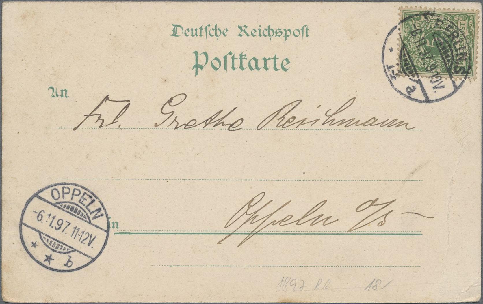 Lot 03318 - Ansichtskarten: Hessen  -  Auktionshaus Christoph Gärtner GmbH & Co. KG Sale #48 The Coins & The Picture Post Cards