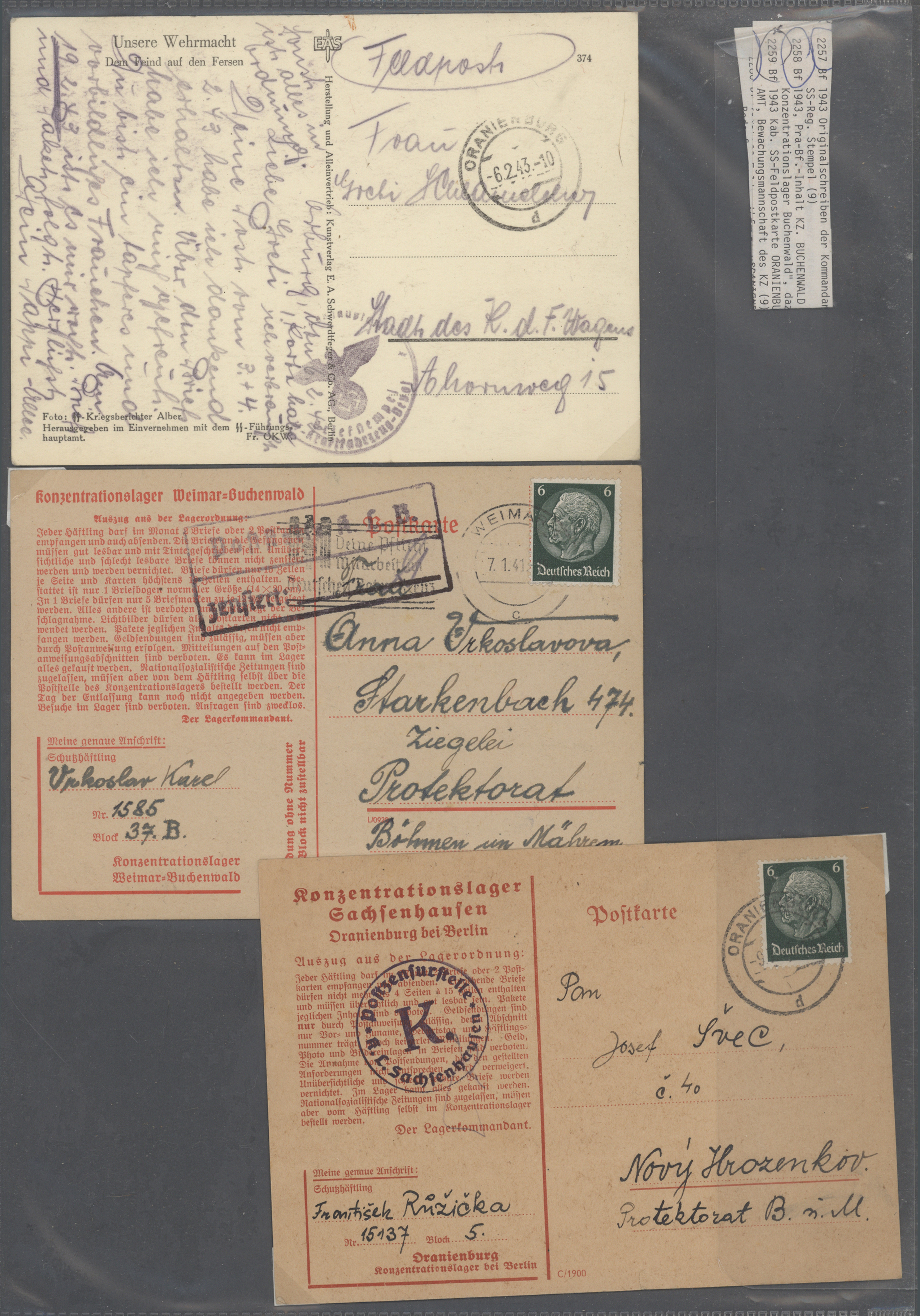 Lot 37582 - feldpost 2. weltkrieg  -  Auktionshaus Christoph Gärtner GmbH & Co. KG Collections Germany,  Collections Supplement, Surprise boxes #39 Day 7