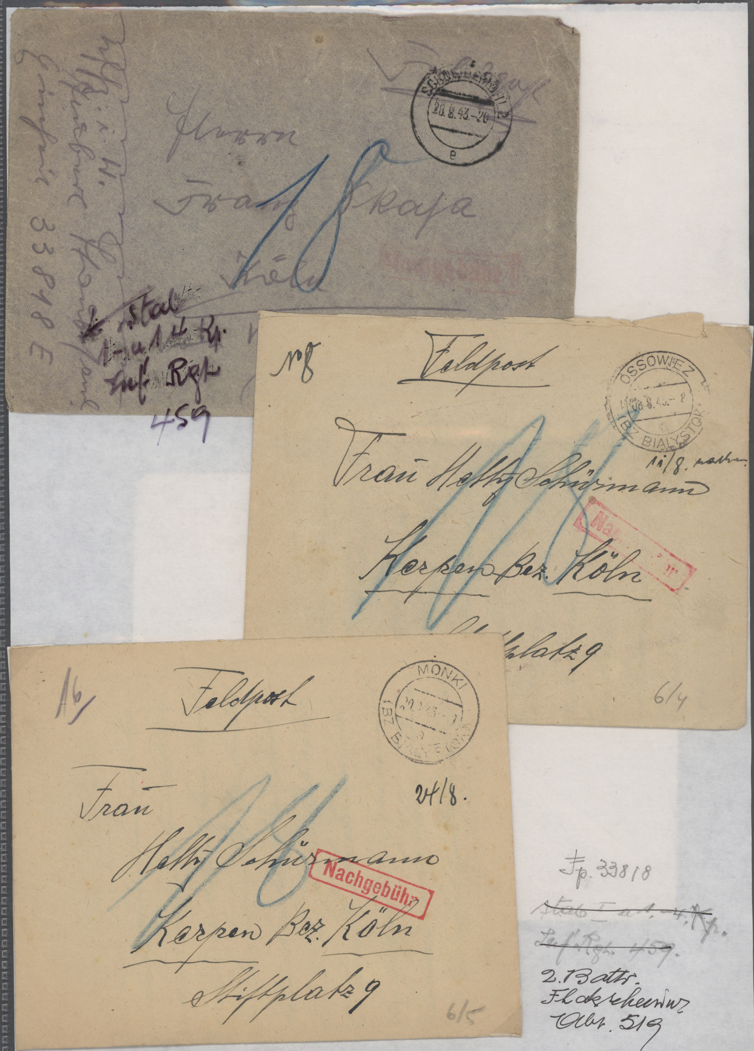 Lot 32043 - feldpost 2. weltkrieg  -  Auktionshaus Christoph Gärtner GmbH & Co. KG Auction #40 Collections Germany, Wunderkartons