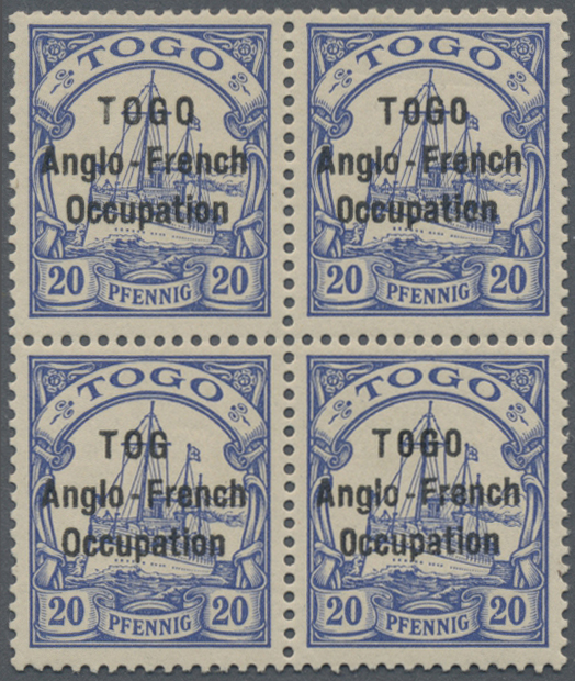 Lot 11501 - Deutsche Kolonien - Togo - Britische Besetzung  -  Auktionshaus Christoph Gärtner GmbH & Co. KG Sale #48 The Single Lots Philatelie