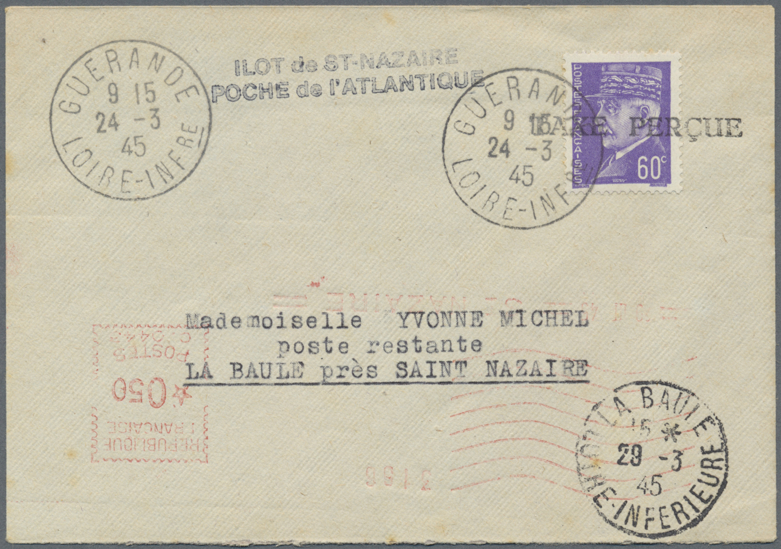 Lot 37517 - Dt. Besetzung II WK - Frankreich - St. Nazaire  -  Auktionshaus Christoph Gärtner GmbH & Co. KG Collections Germany,  Collections Supplement, Surprise boxes #39 Day 7