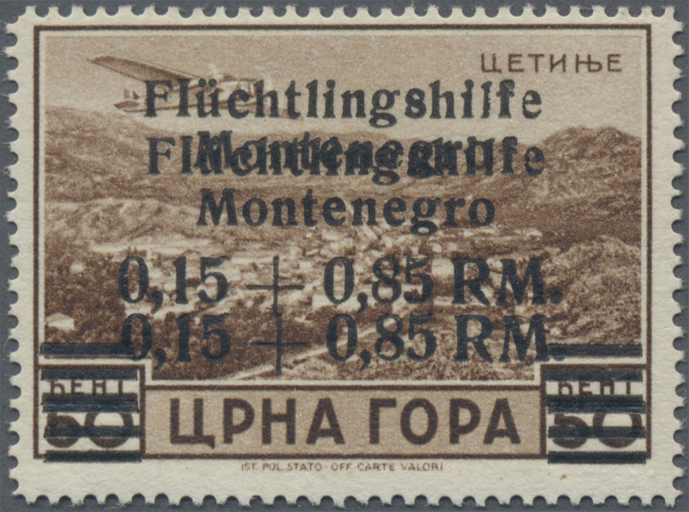 Lot 06918 - Dt. Besetzung II WK - Montenegro  -  Auktionshaus Christoph Gärtner GmbH & Co. KG 51th Auction - Day 3